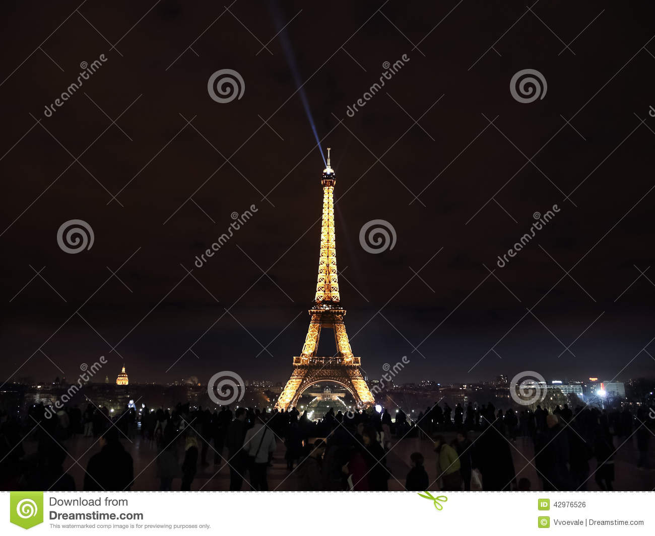 Illumination de nuit de tour eiffel paris photo ditorial image 42976526 - Illumination a paris ...