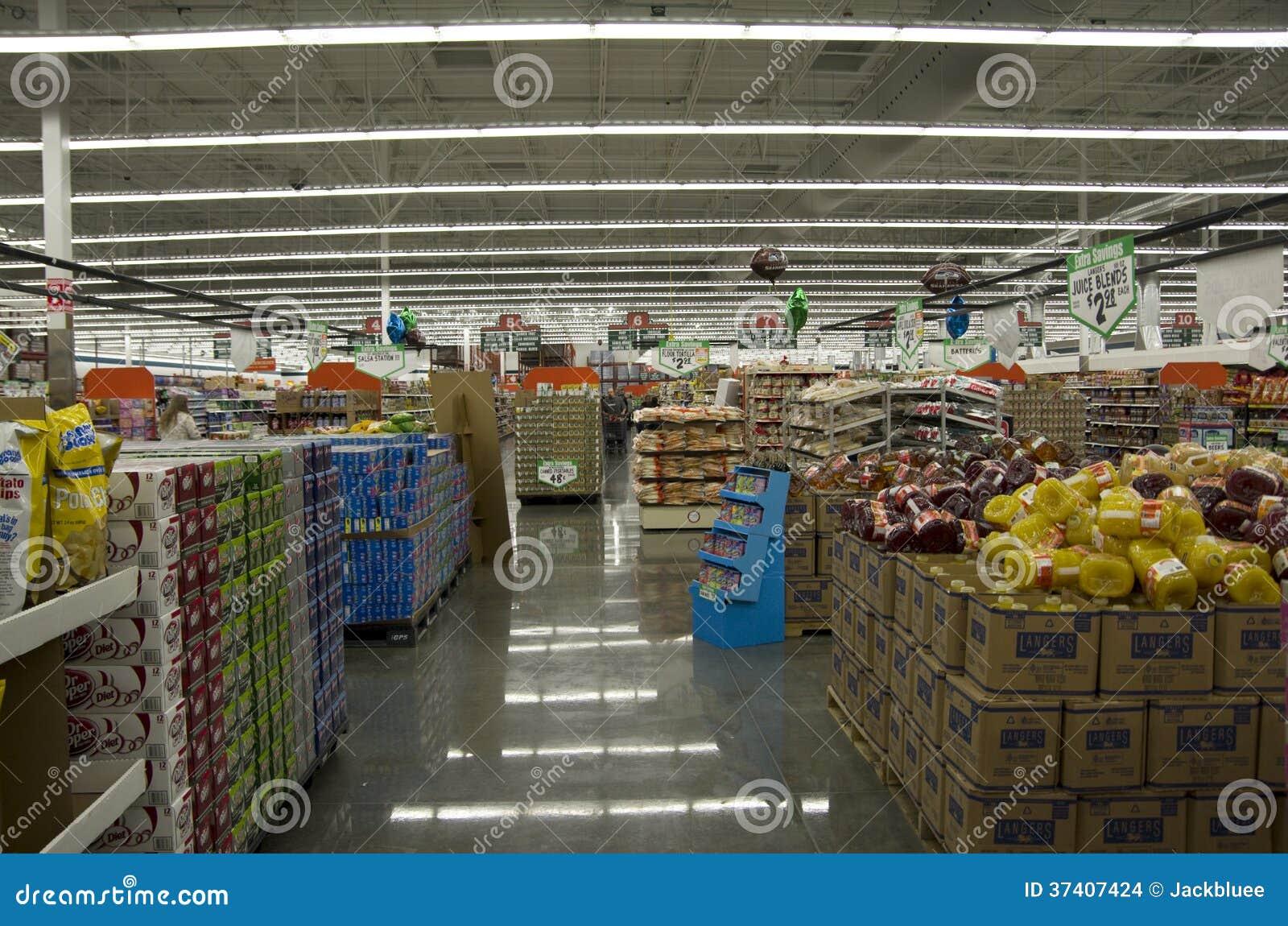 Illuminazione del deposito del negozio del supermercato immagine