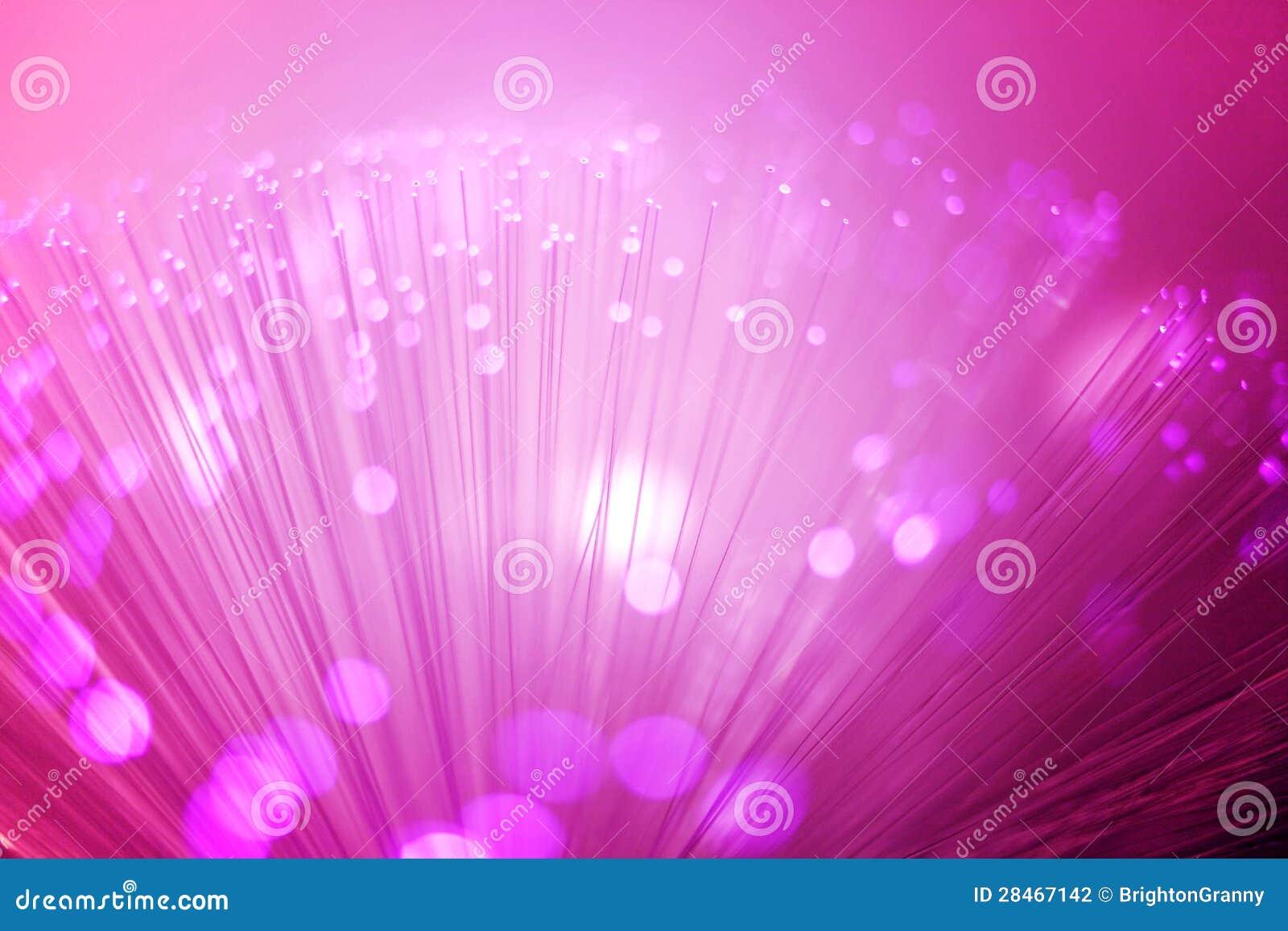 Illuminazione a fibra ottica porpora fotografia stock immagine