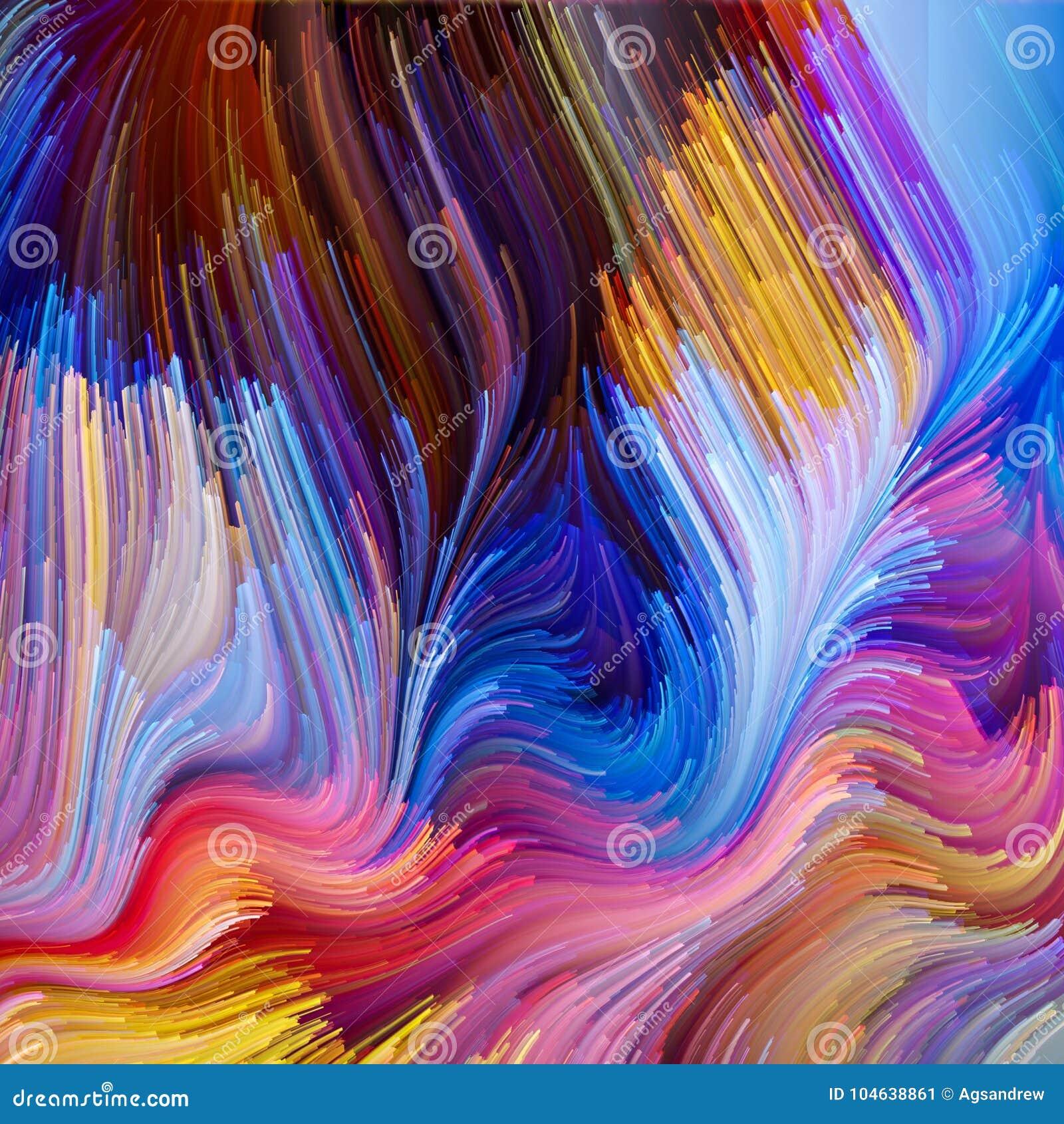 Illusie van Vloeibare Kleur