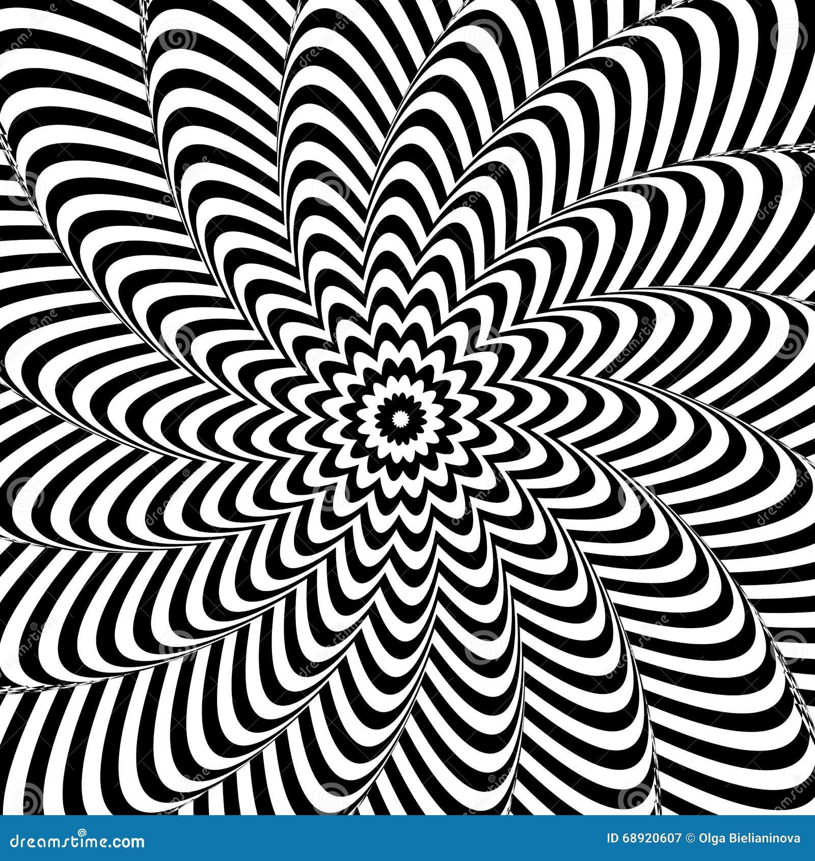 Illusion optique Fond abstrait noir et blanc
