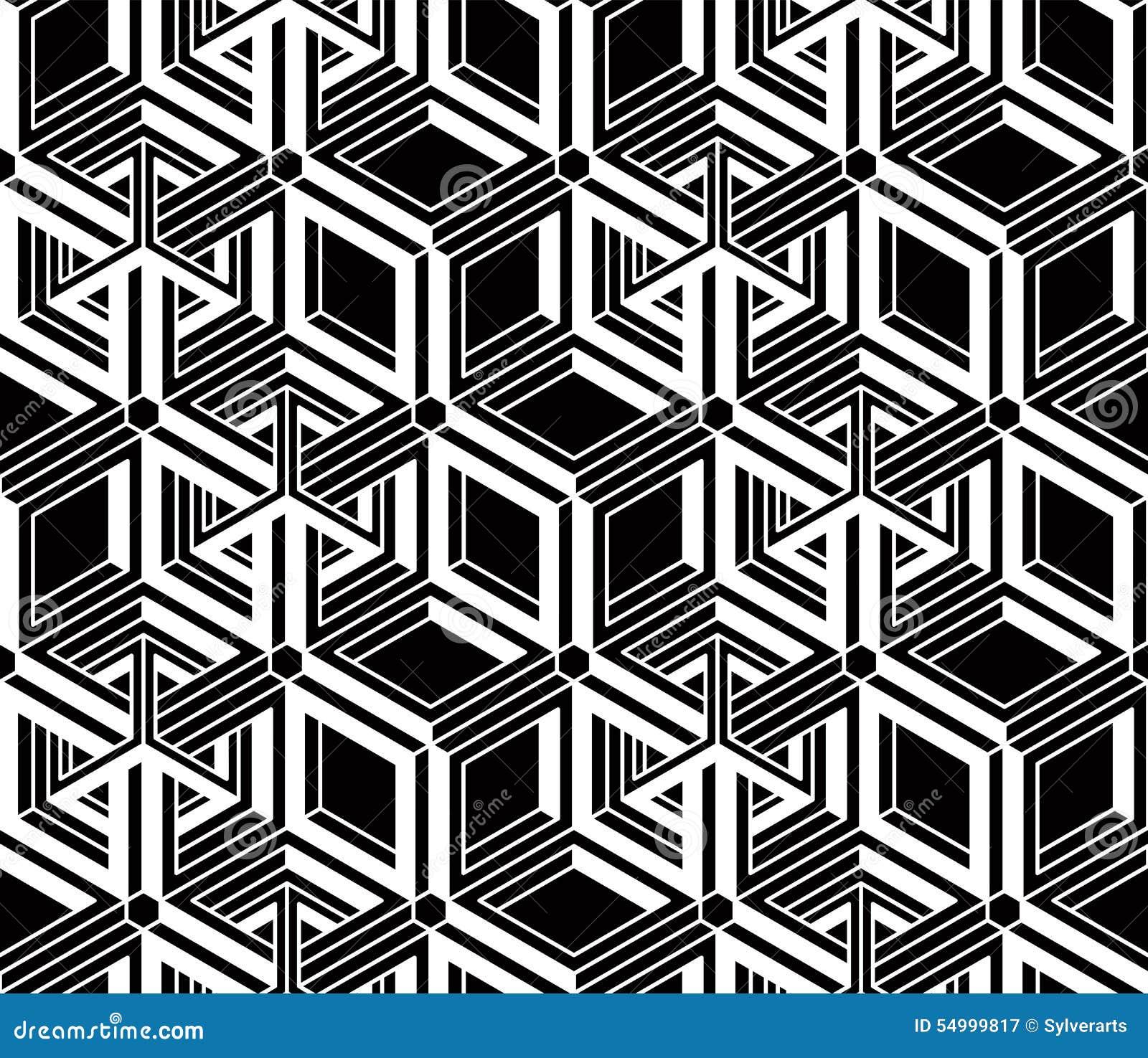 illusive continuous monochrome pattern decorative
