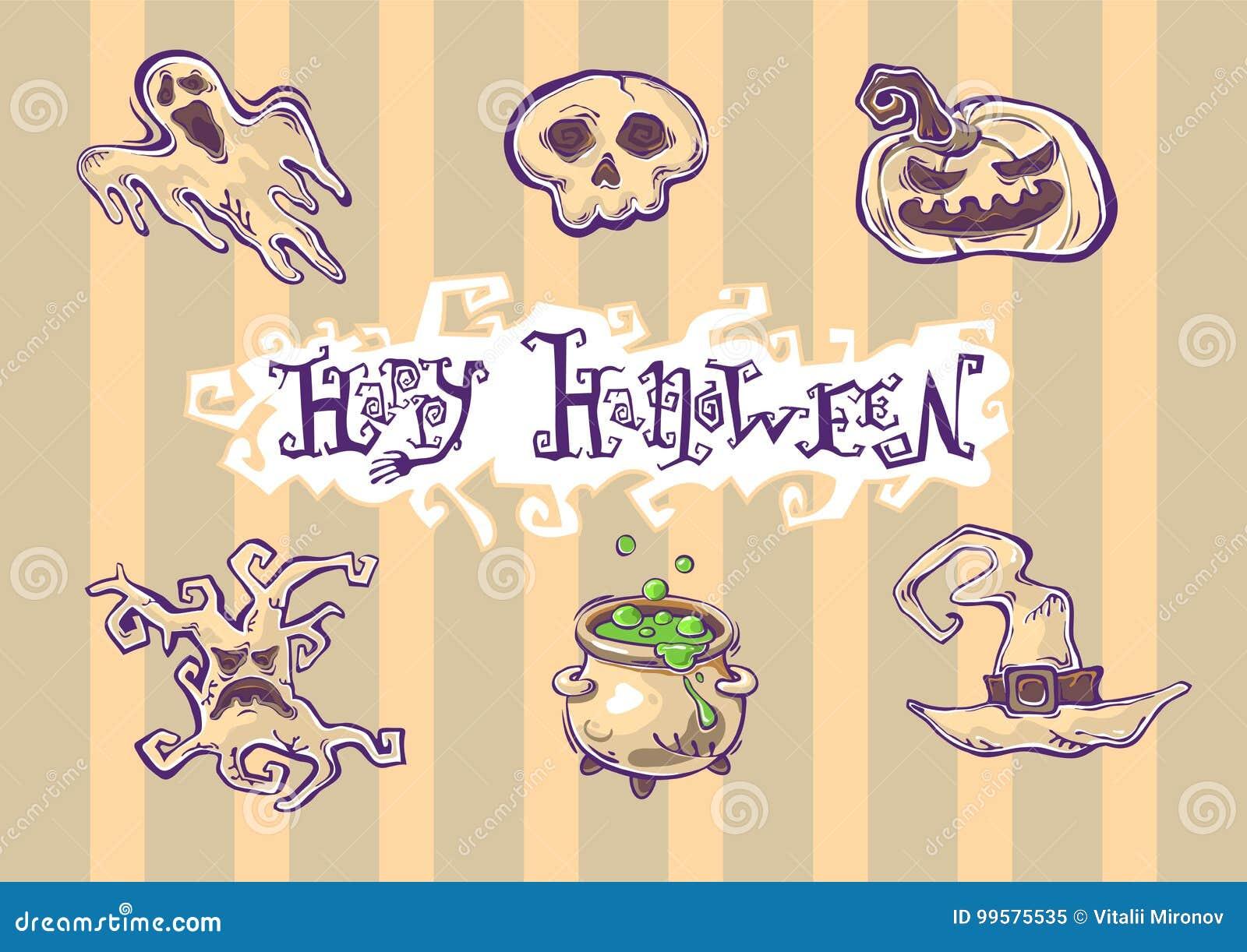 Illusrations di lerciume di Halloween