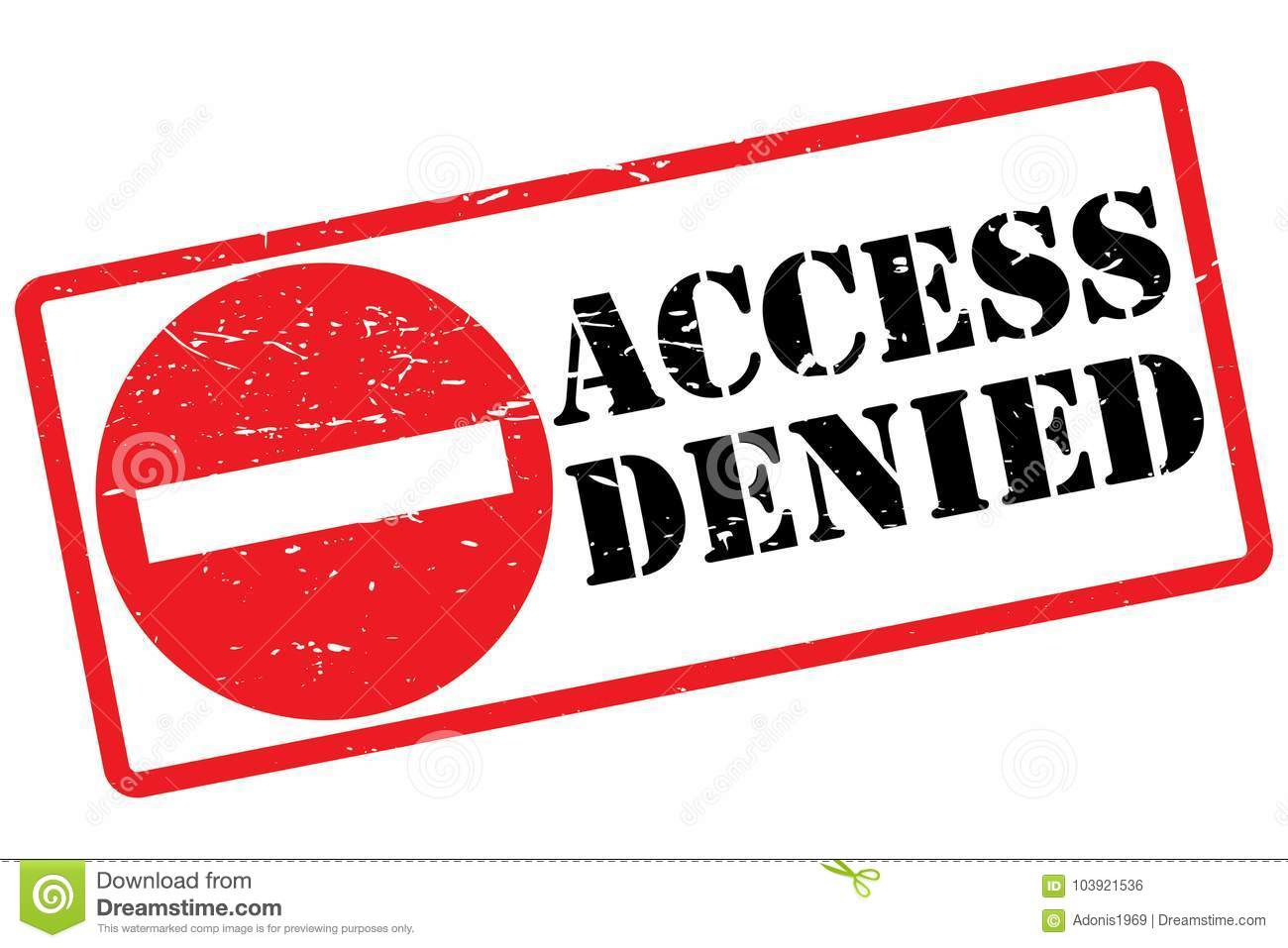 Denied >> Access Denied Sign Stock Vector Illustration Of Circle