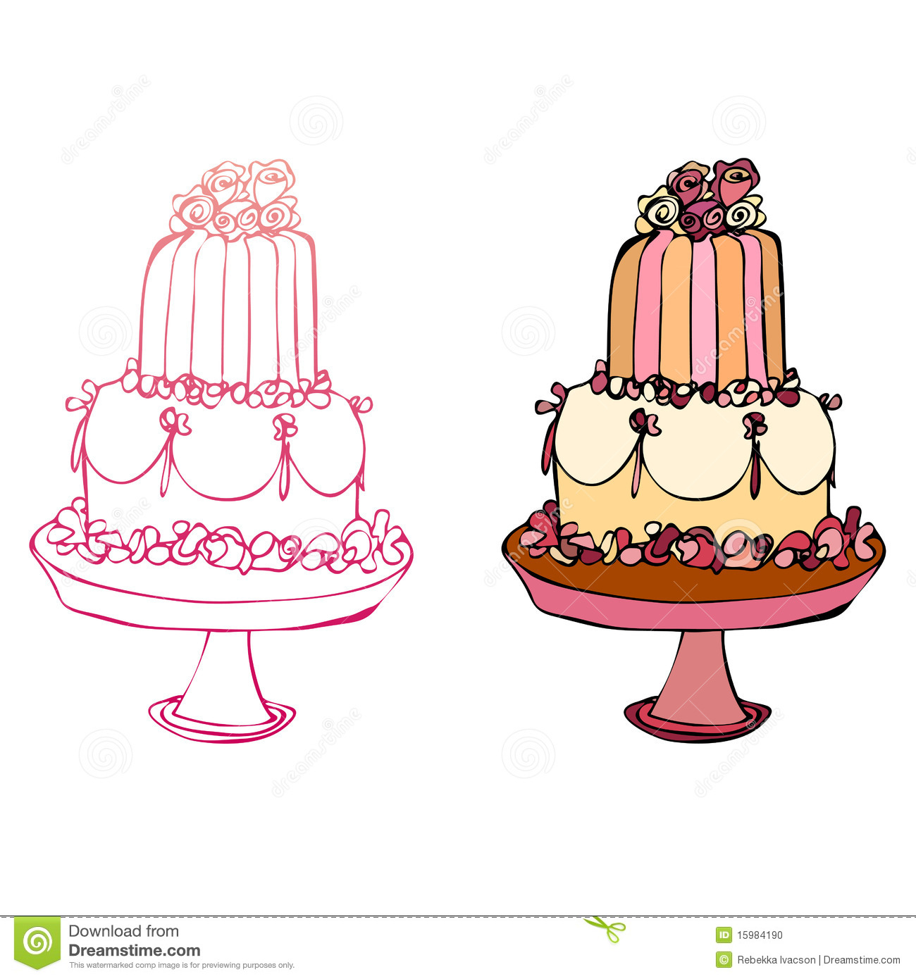Illustrated Cake Stock Vector Illustration Of Candy