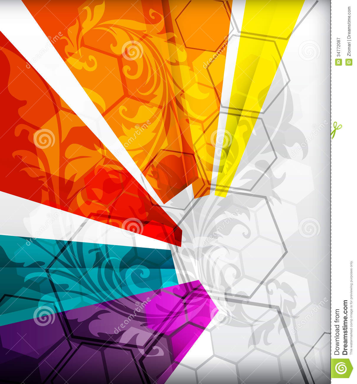 illustrated colorful layout with abstraction royalty free