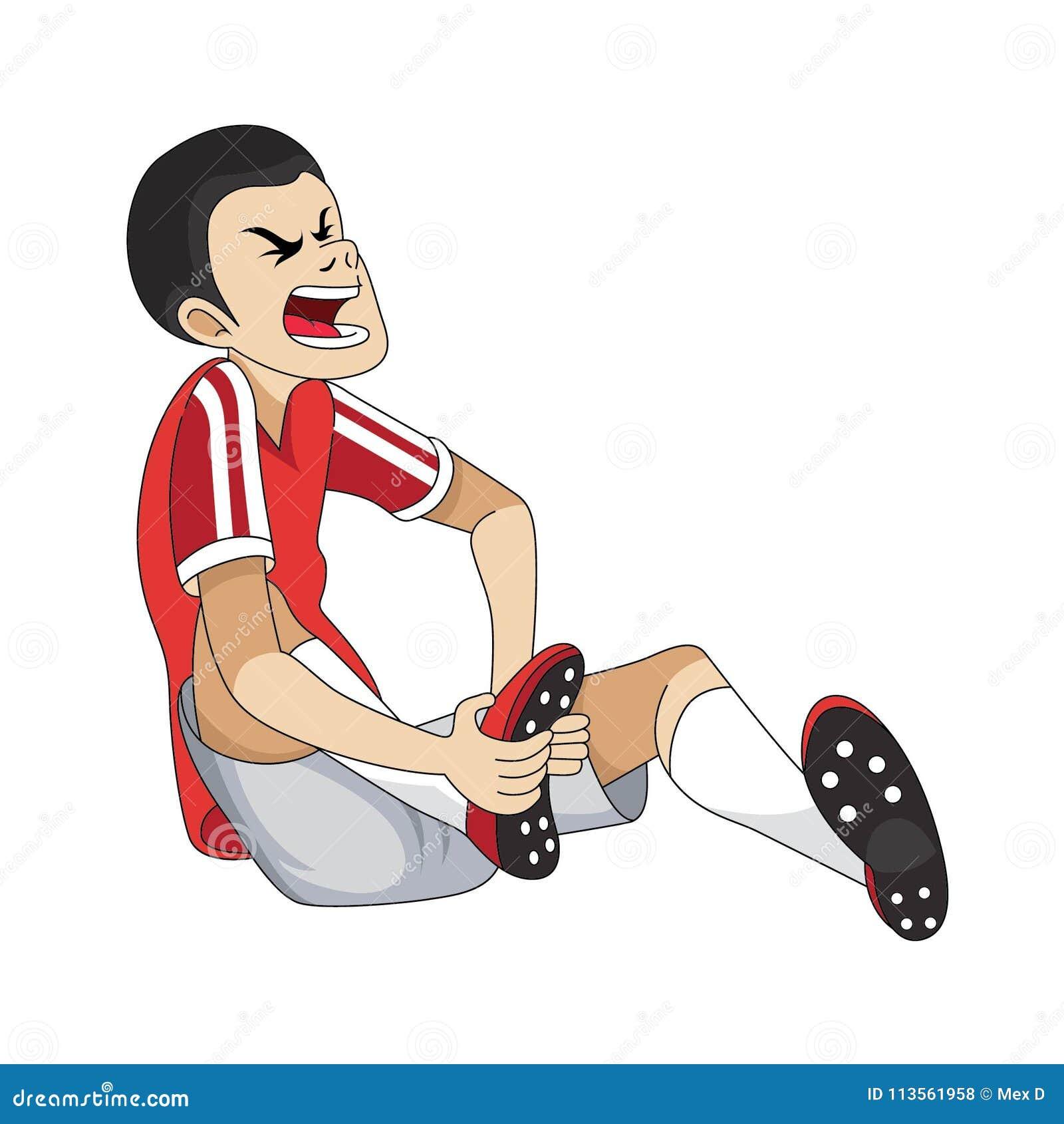 Soccer Player Injured Cartoon Stock Illustration Illustration Of Male Beautiful 113561958
