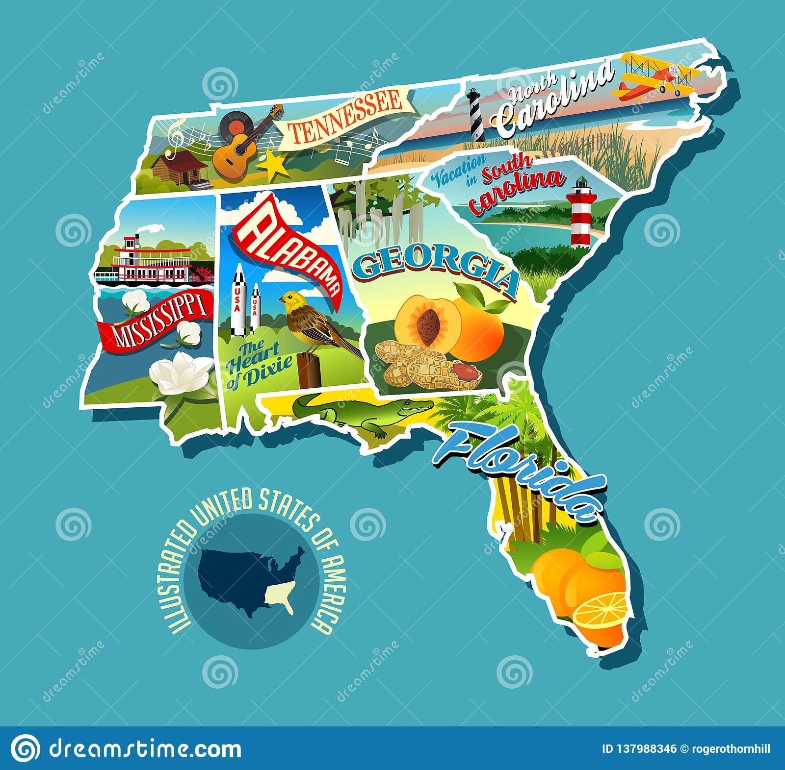Image of: Southern States Map Stock Illustrations 480 Southern States Map Stock Illustrations Vectors Clipart Dreamstime