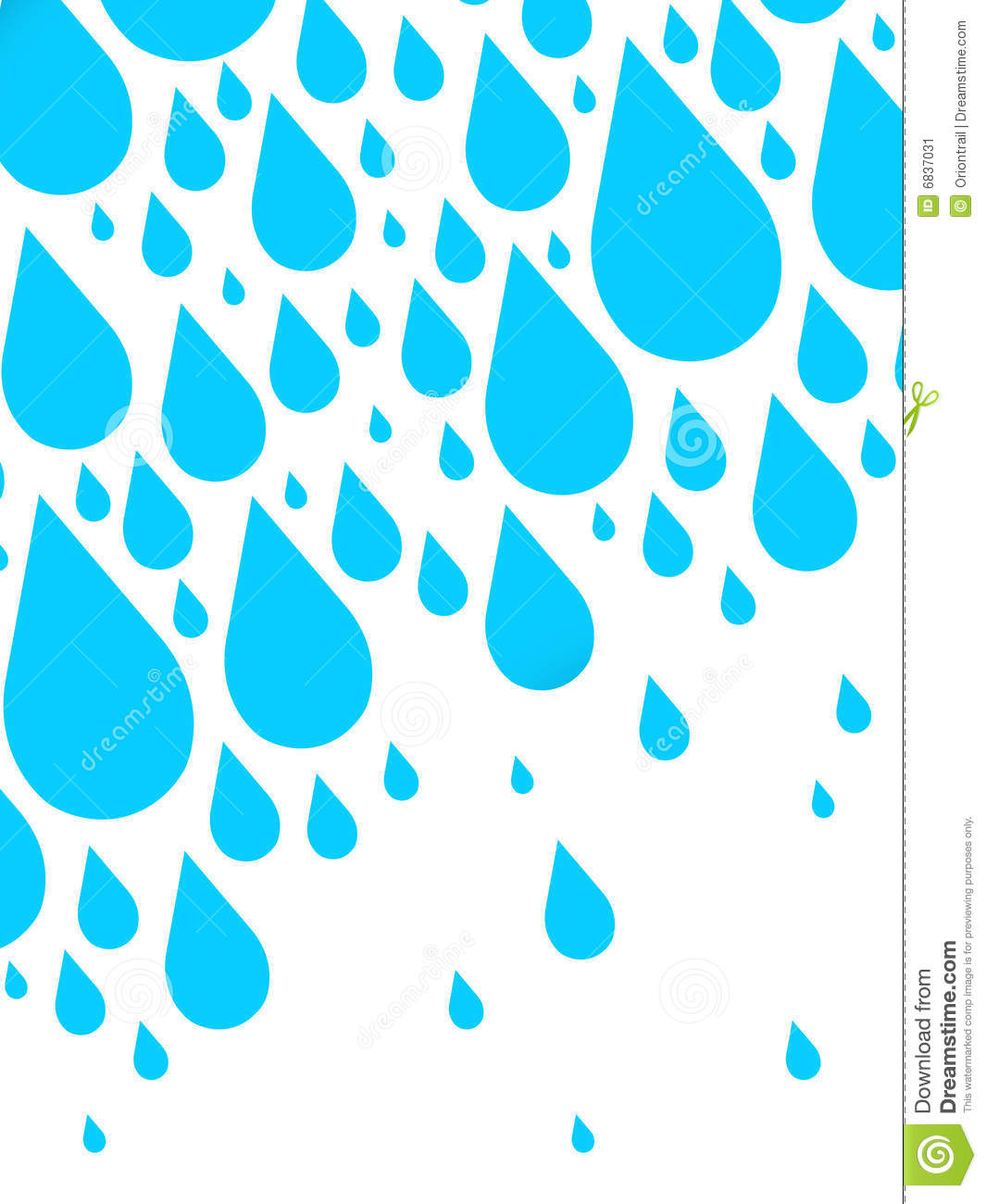 Illustrated Rain Stock Image - Image: 6837031