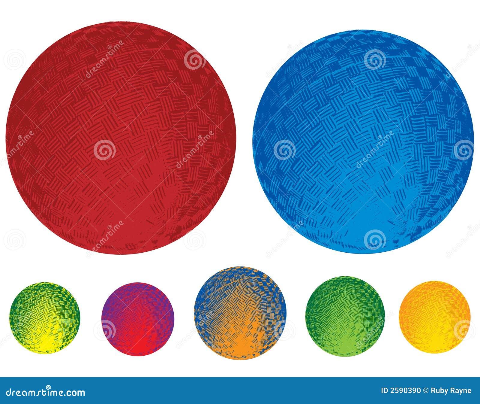 Illustrated Rubber Balls