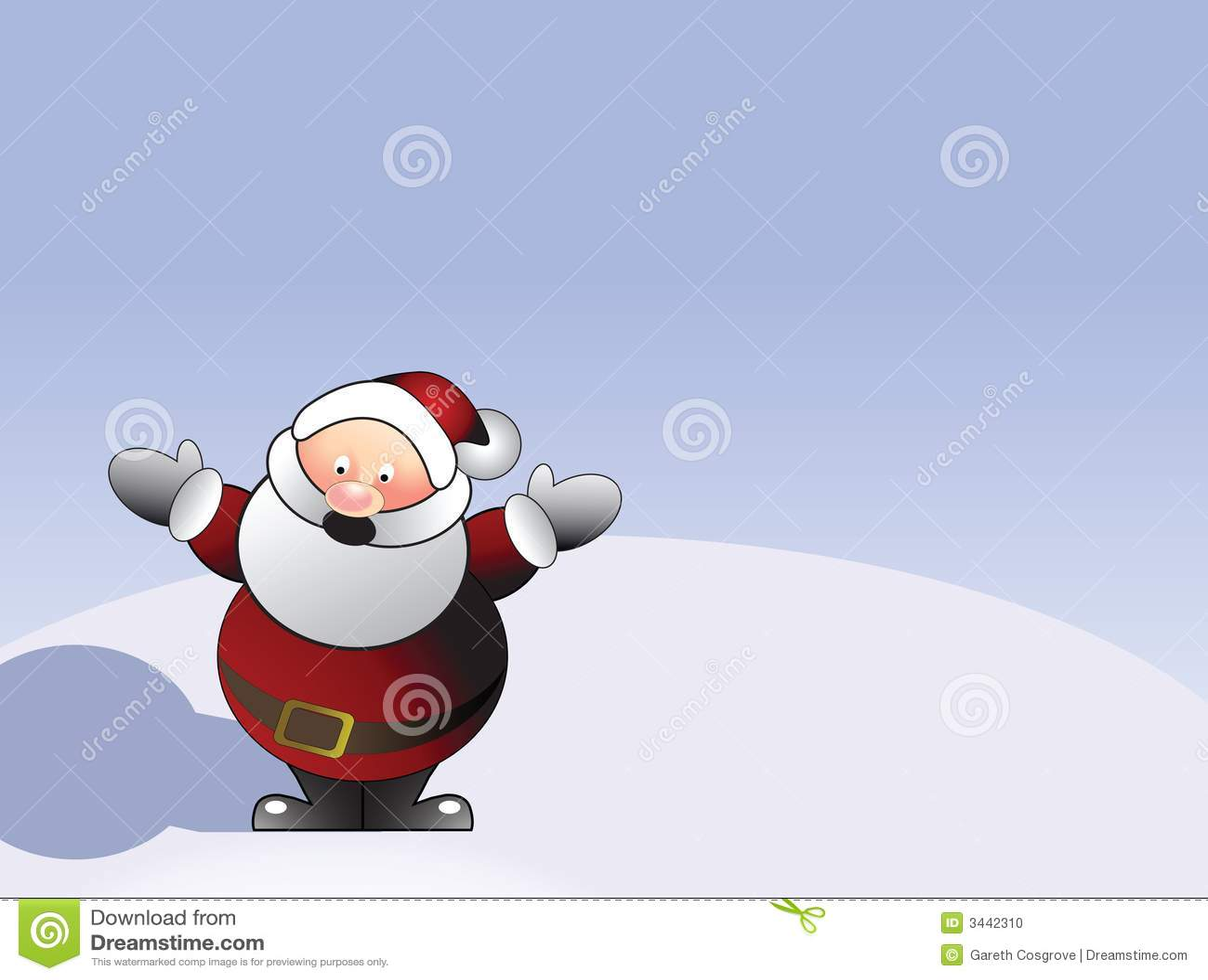 Illustrated Santa Claus