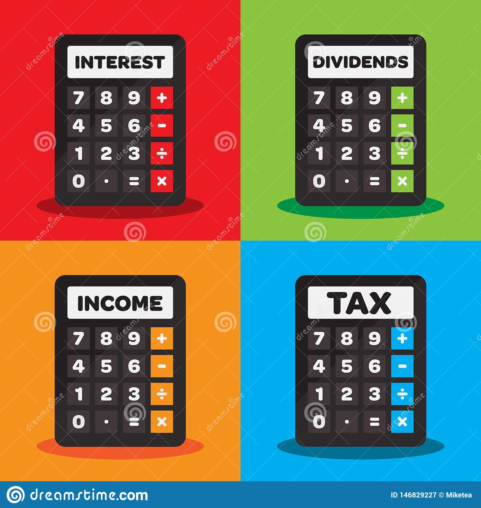 Financial Calculator Icon Stock Vector Illustration Of Currency 146829227