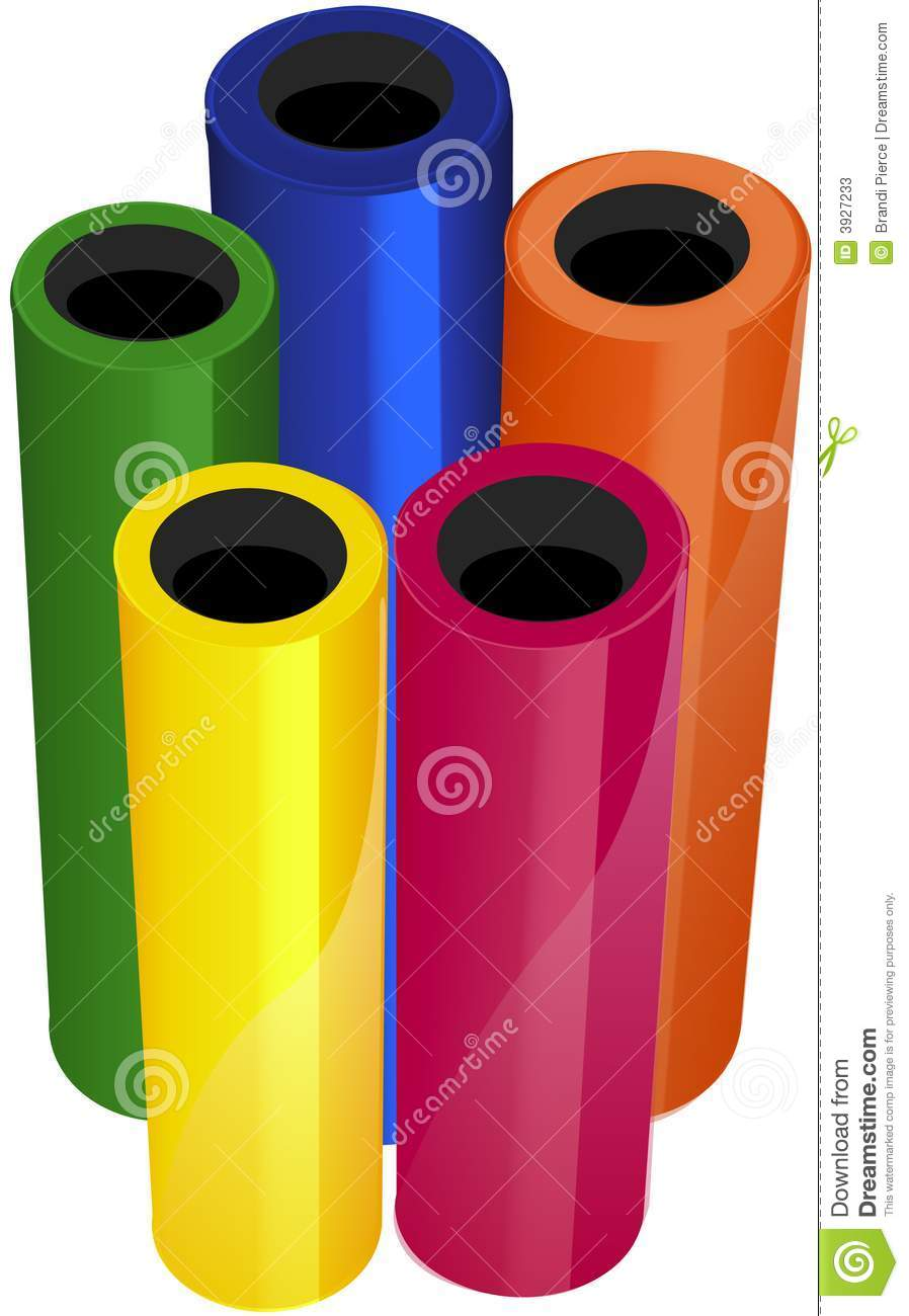 Illustrated Vinyl Rolls Stock Photos Image 3927233