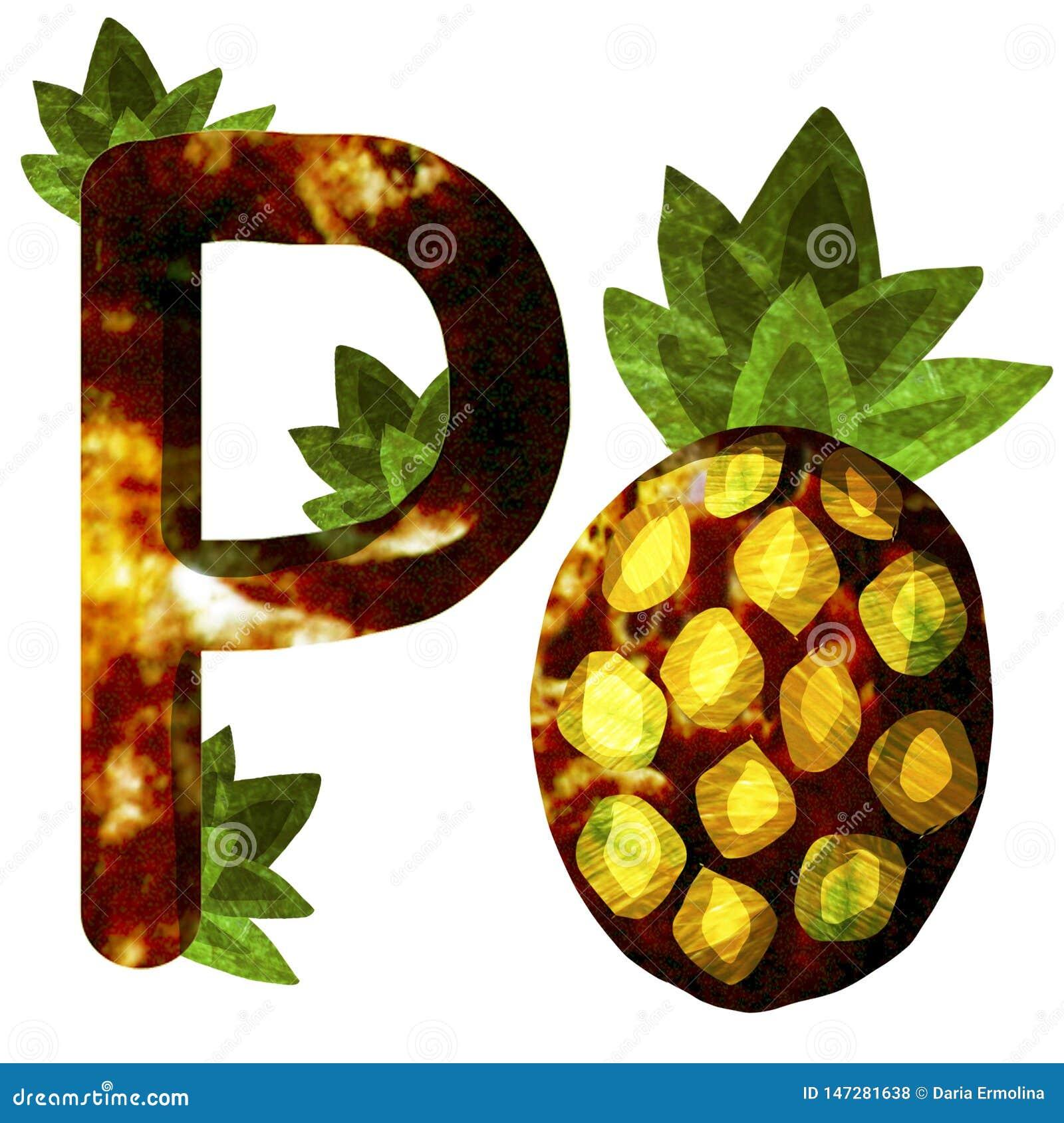Illustratie met ananas