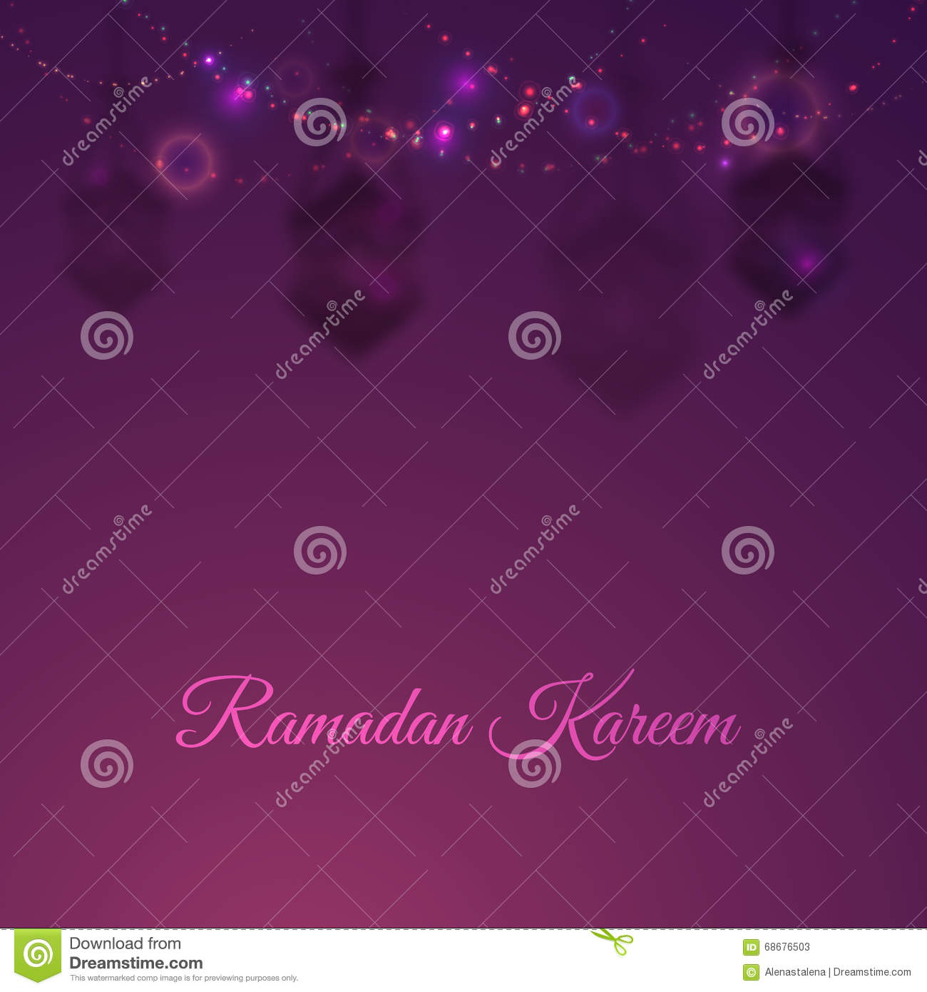 Illustratie ramadan kareem background met lampen fanoos ramadan kareem lights kan als ramadan - Oostelijk licht ...