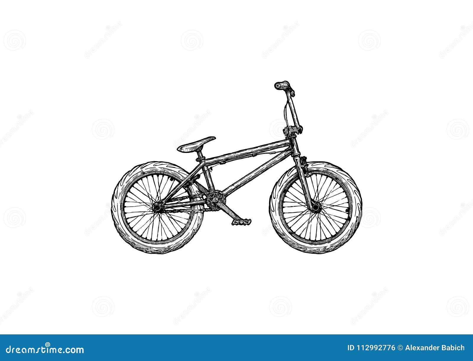 Illustratie van BMX-fiets
