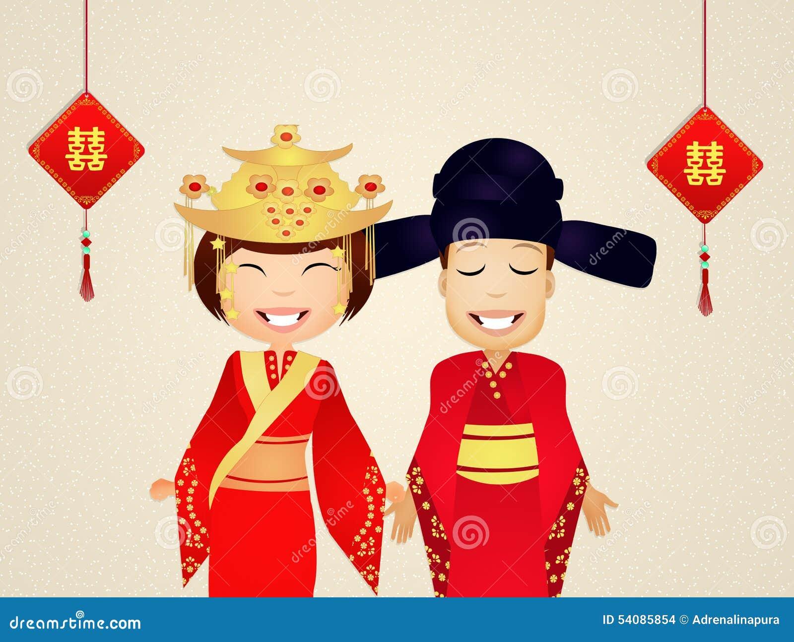 Illustratie van Chinees huwelijk