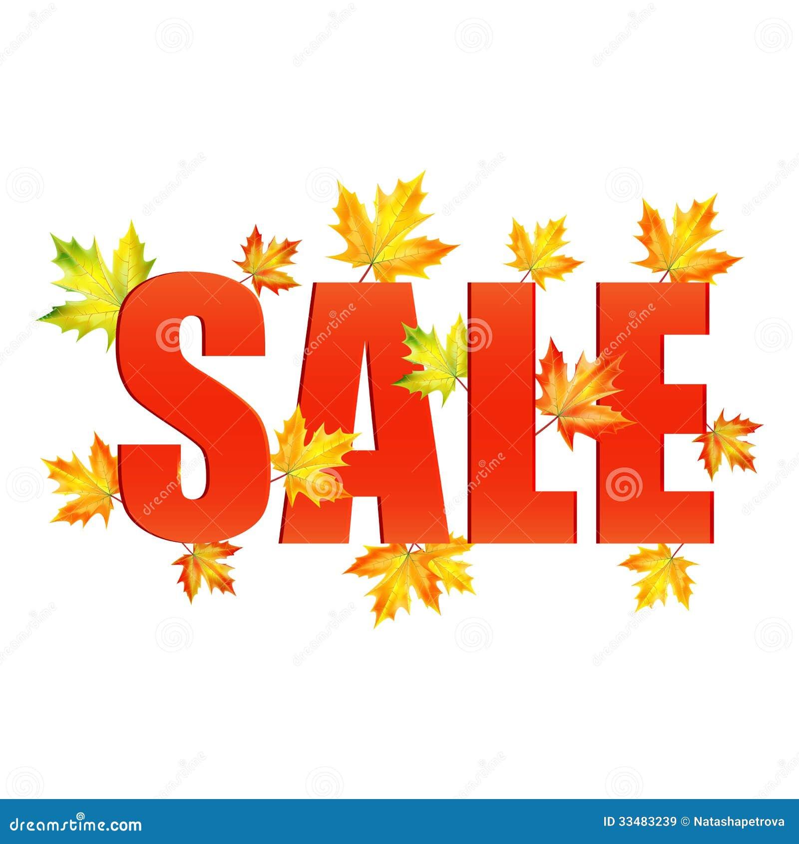 Illustratie van de herfst seizoengebonden verkoop royalty vrije stock afbeeldingen afbeelding - Zinkt de verkoop ...