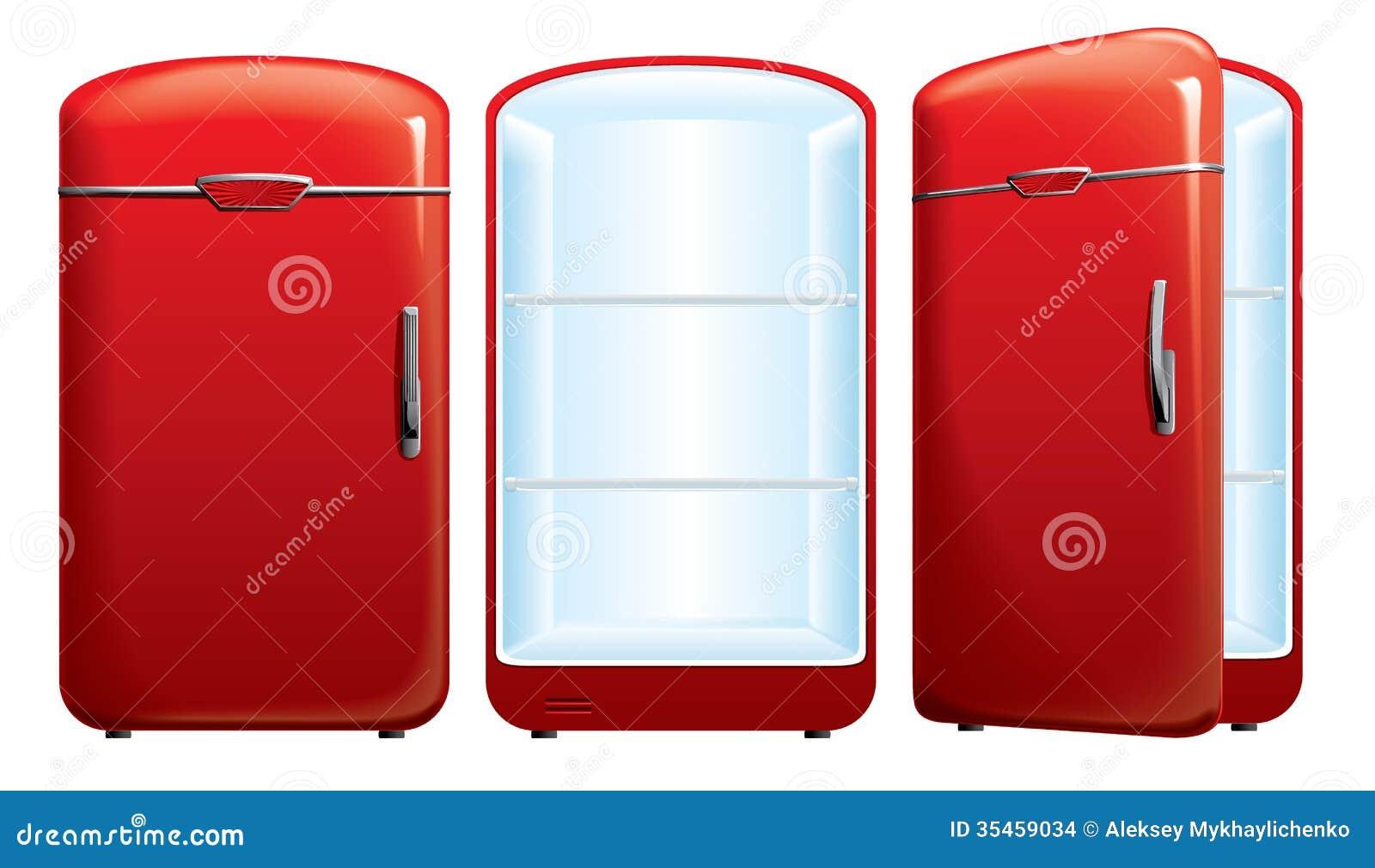 Illustratie van de ijskast stock afbeeldingen afbeelding 35459034 - Ijskast rood smet ...