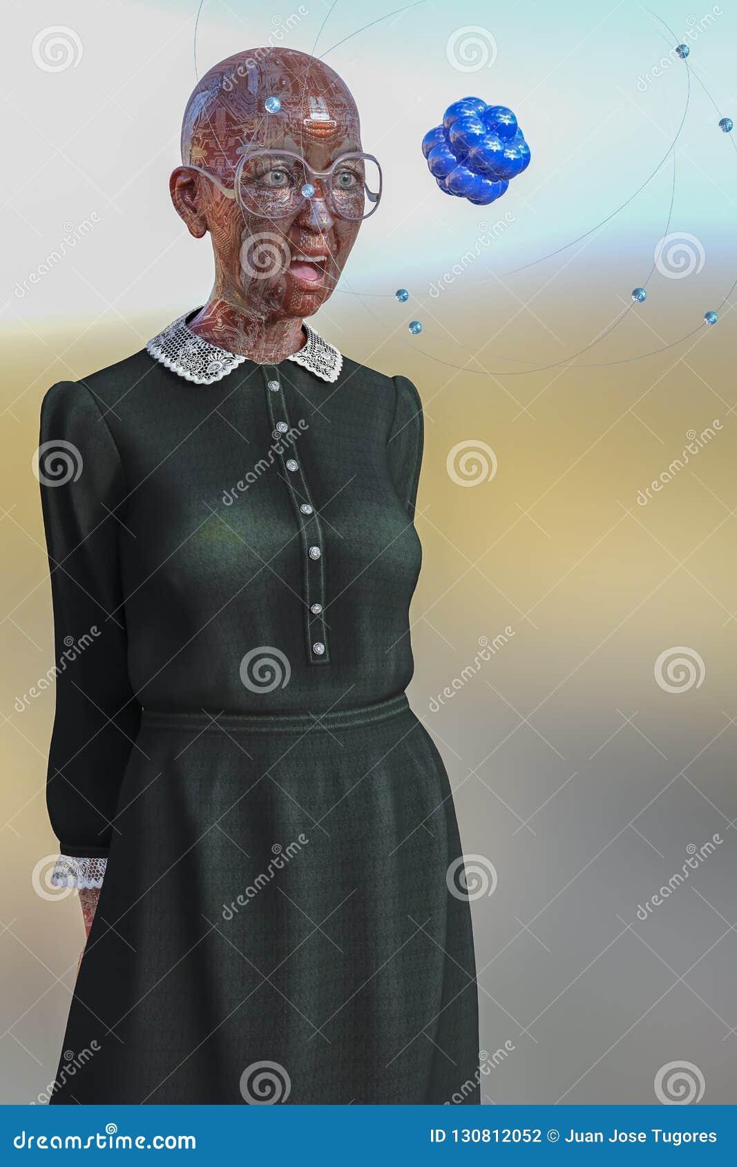 Illustratie van de mens met getatoeeerde kringen