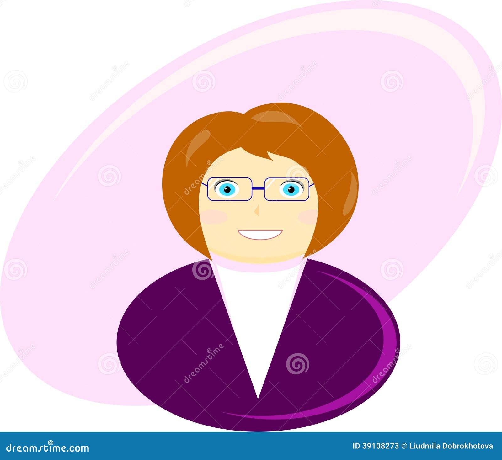 Illustratie van een bedrijfsvrouw