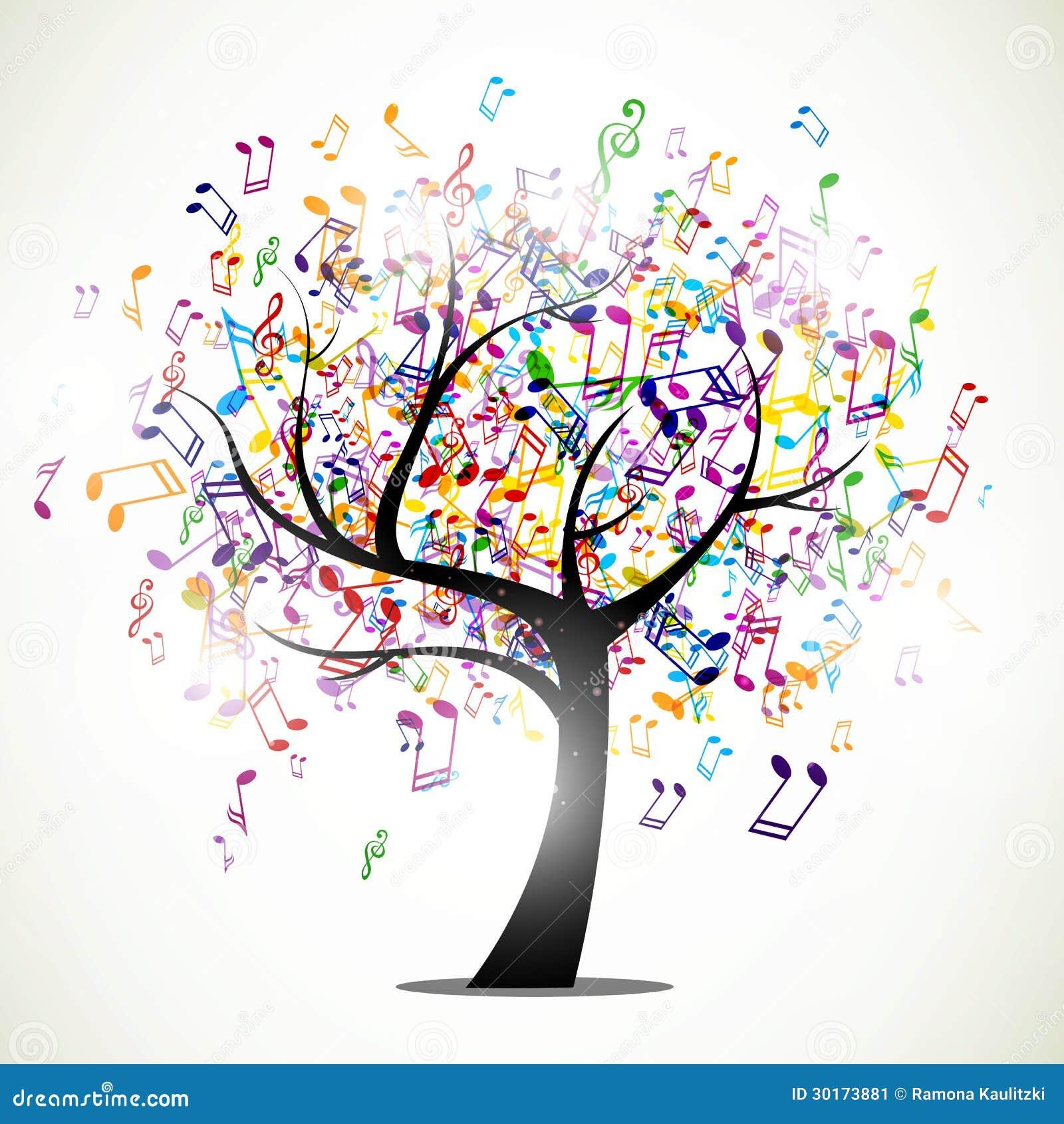 Abstracte muziekboom
