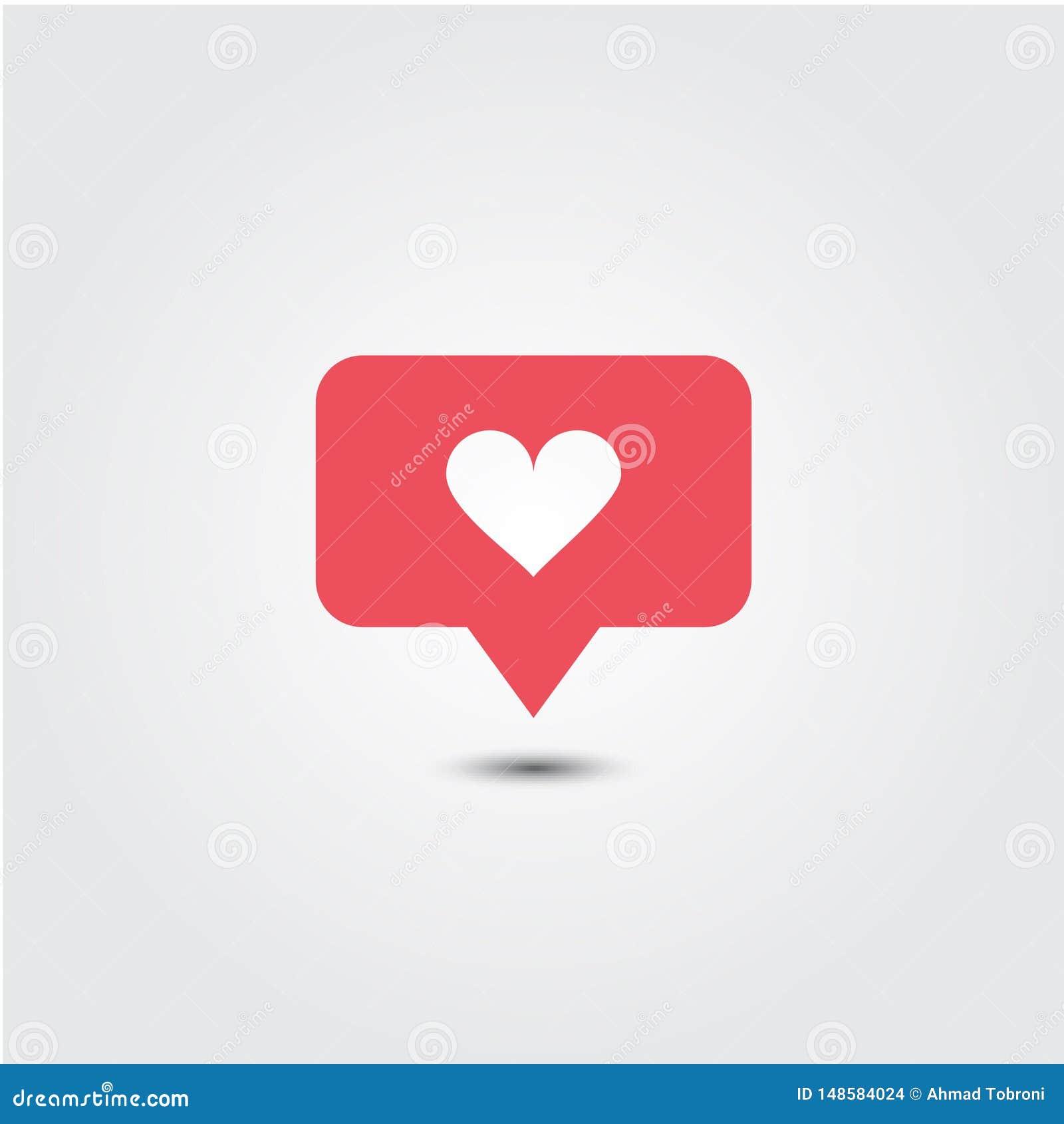 Illustratie van het het Malplaatjeontwerp van het liefdepictogram de Vector