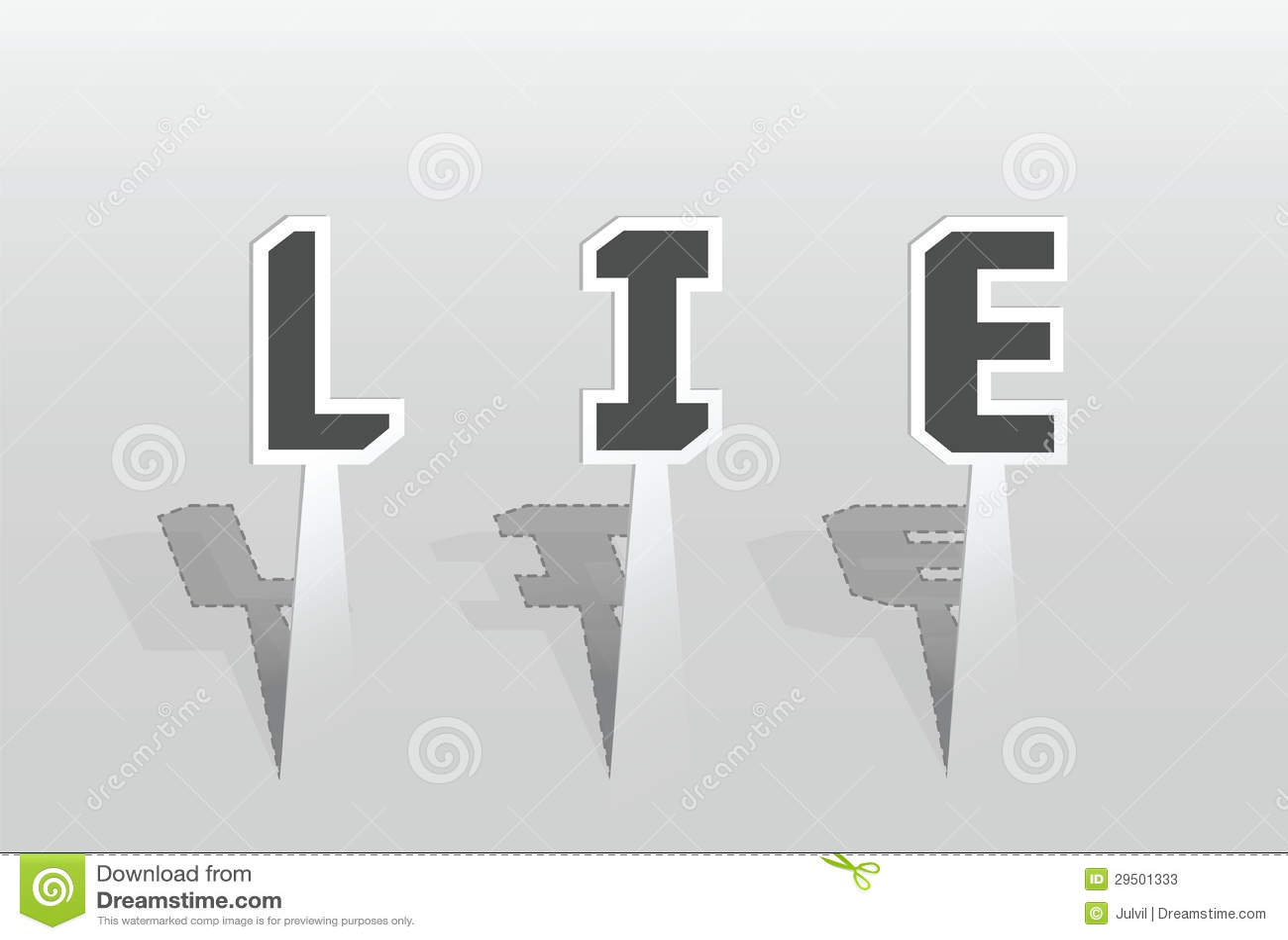 Illustratie van het woord van de LEUGEN