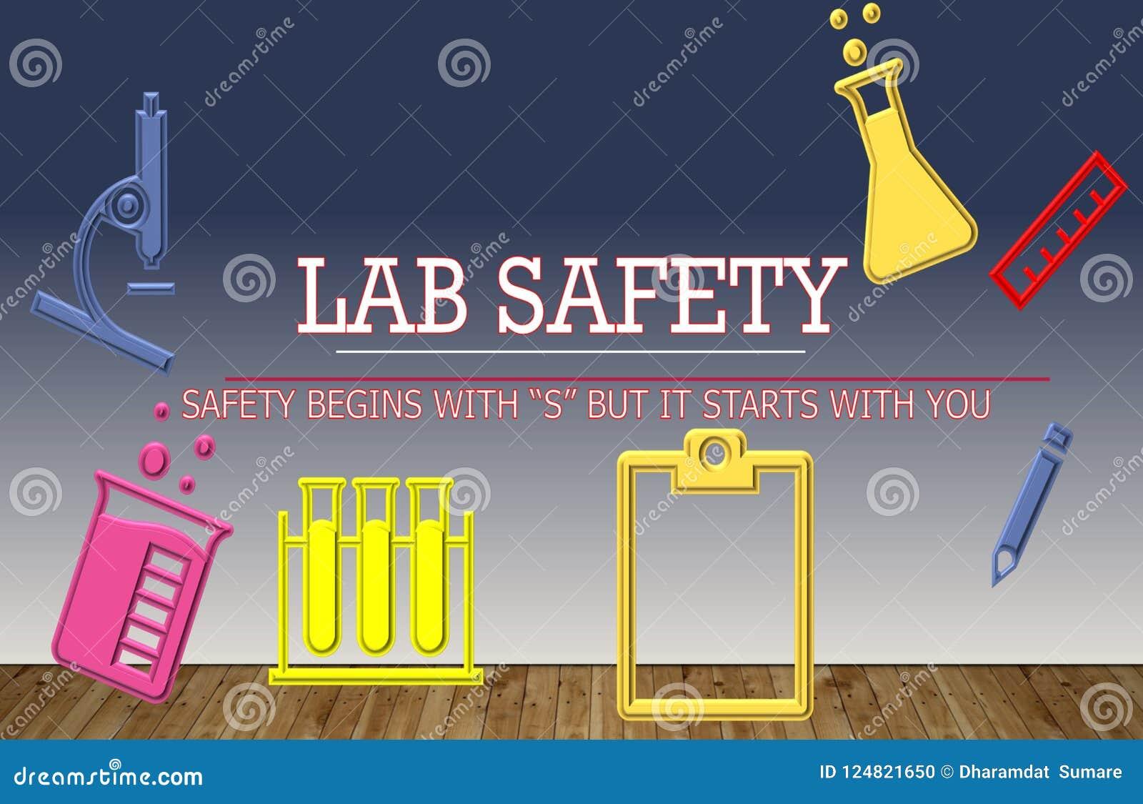 Illustratie van Laboratoriumveiligheid