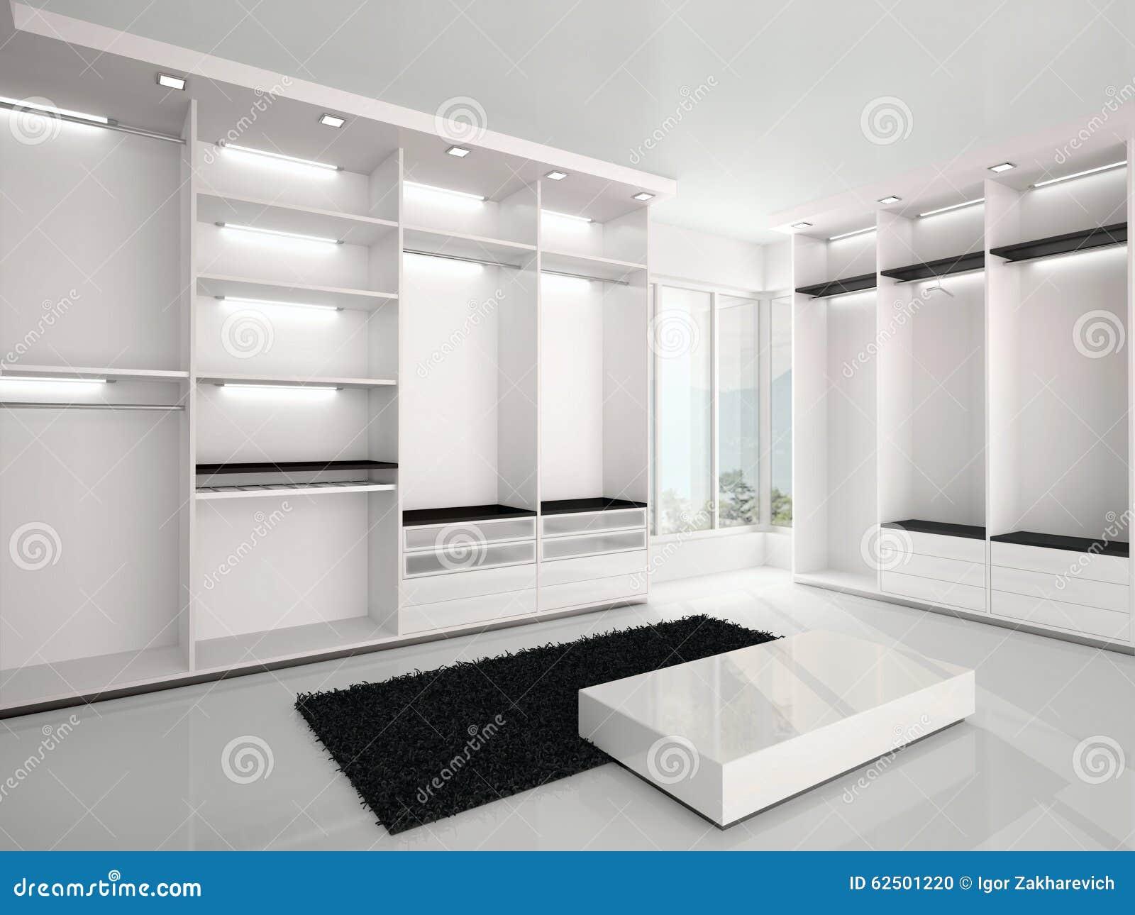 Illustratie van luxueuze witte garderobe in een moderne stijl stock illustratie afbeelding - Garderobe stijl van lodewijk xv ...