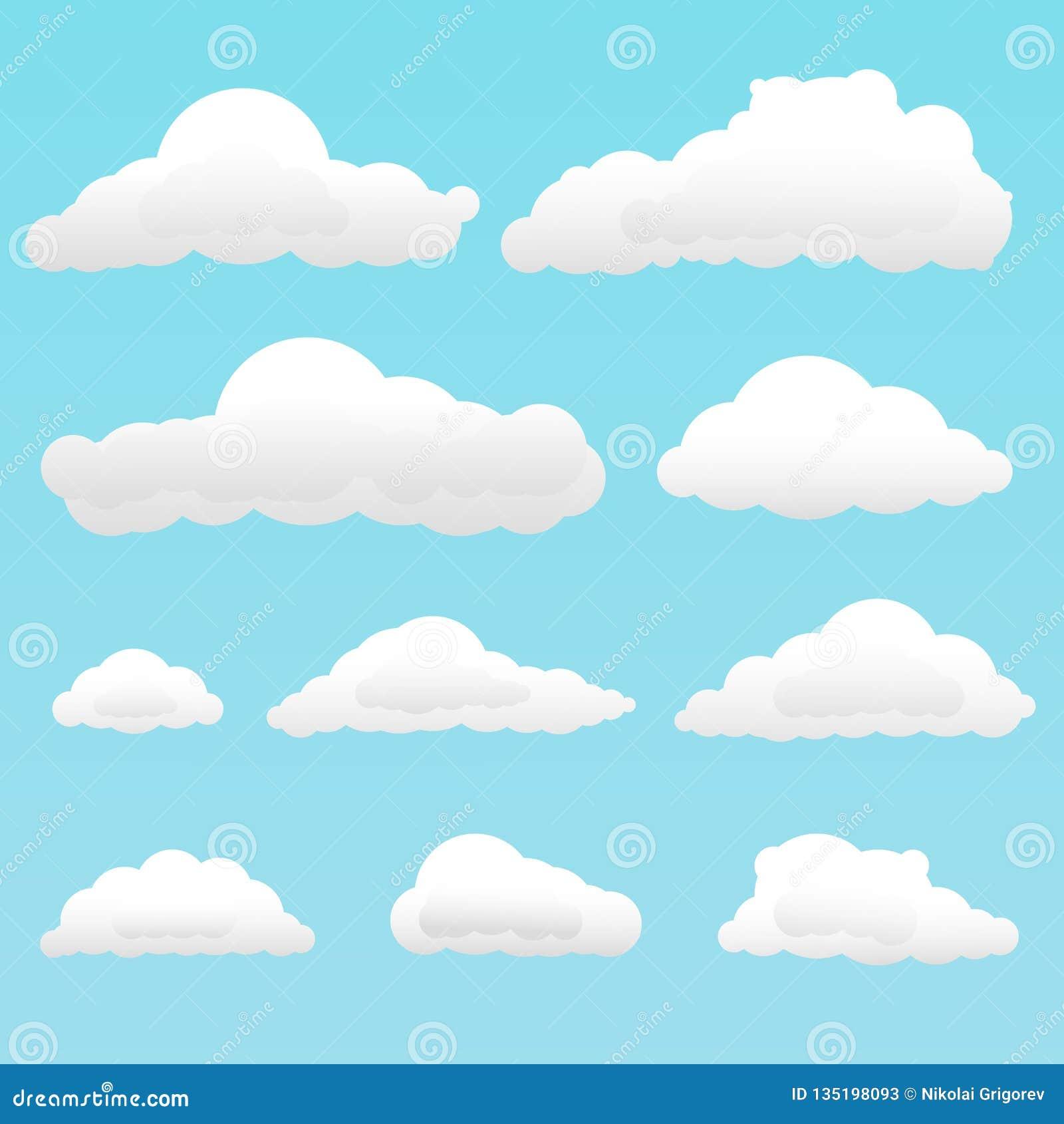 Illustratie van reeks wolken