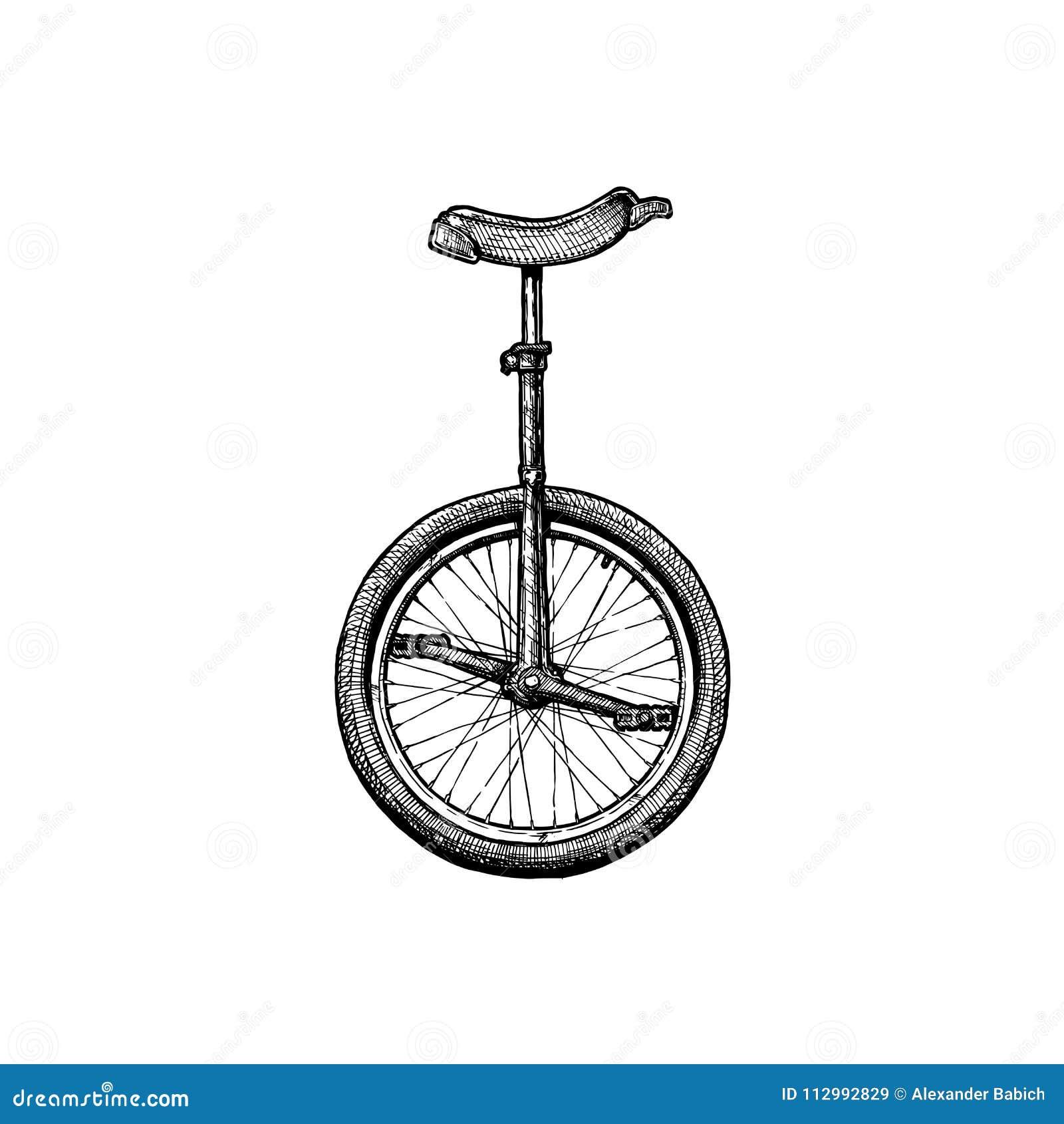 Illustratie van unicycle