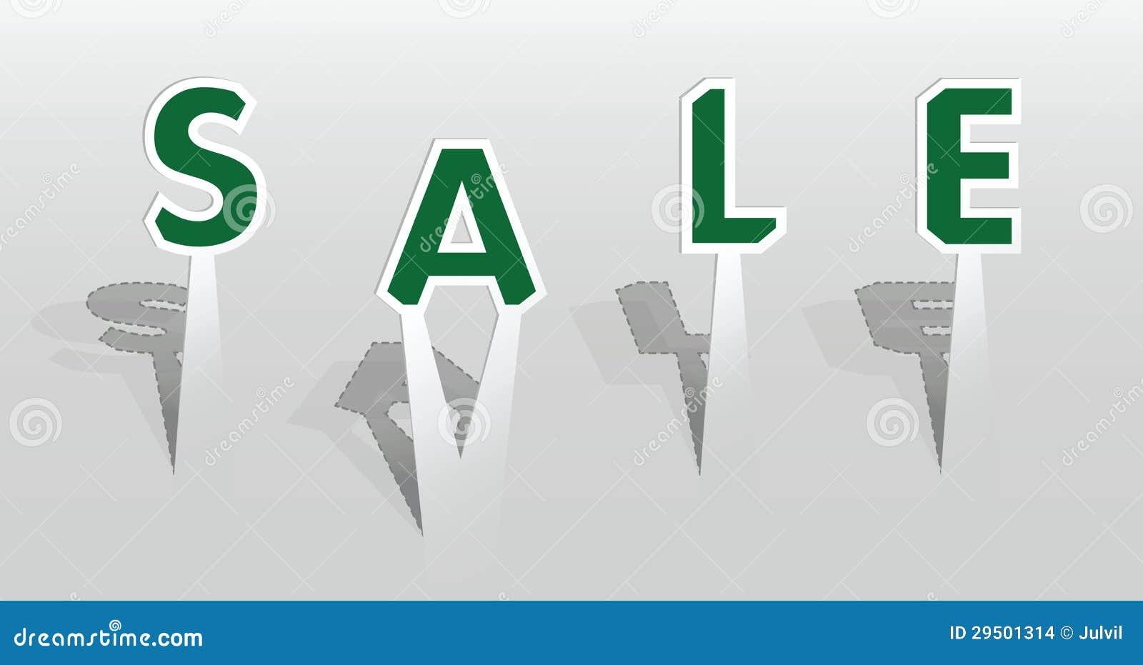 Illustratie van verkoopwoord