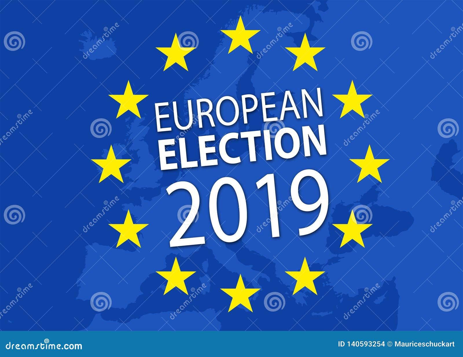 Illustratie voor Europese verkiezing 2019