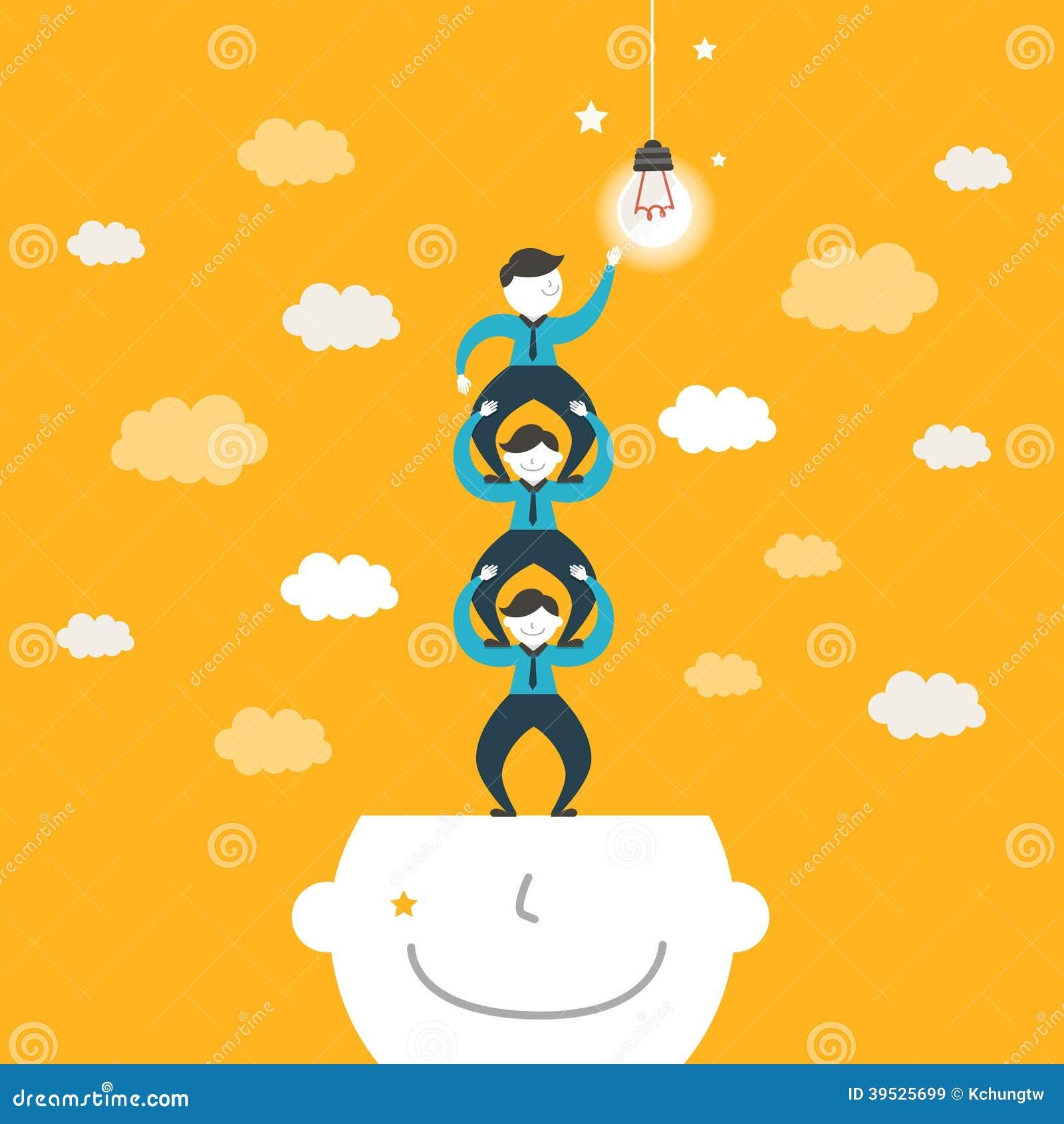Illustratieconcept het teamwerk