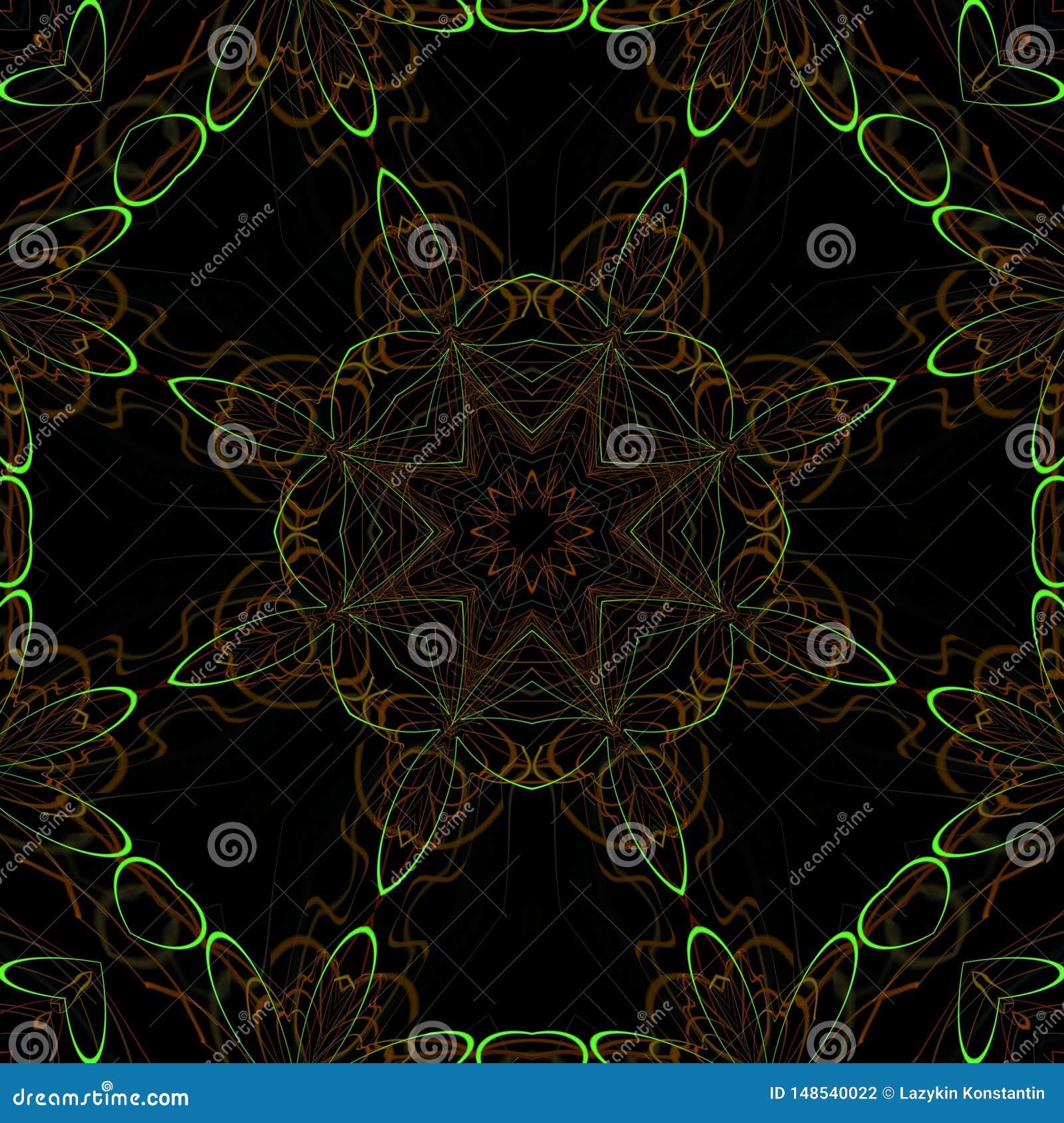 Illustraties psychedelische fractal futuristische geometrische kleurrijk