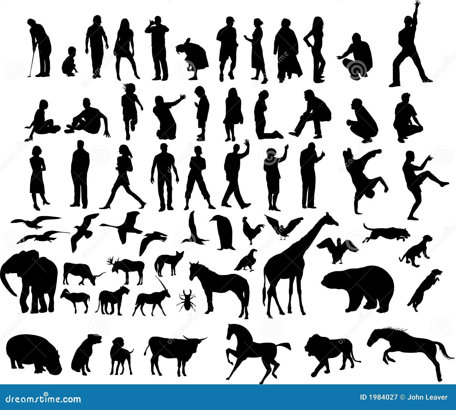 Illustraties van mensen en dieren