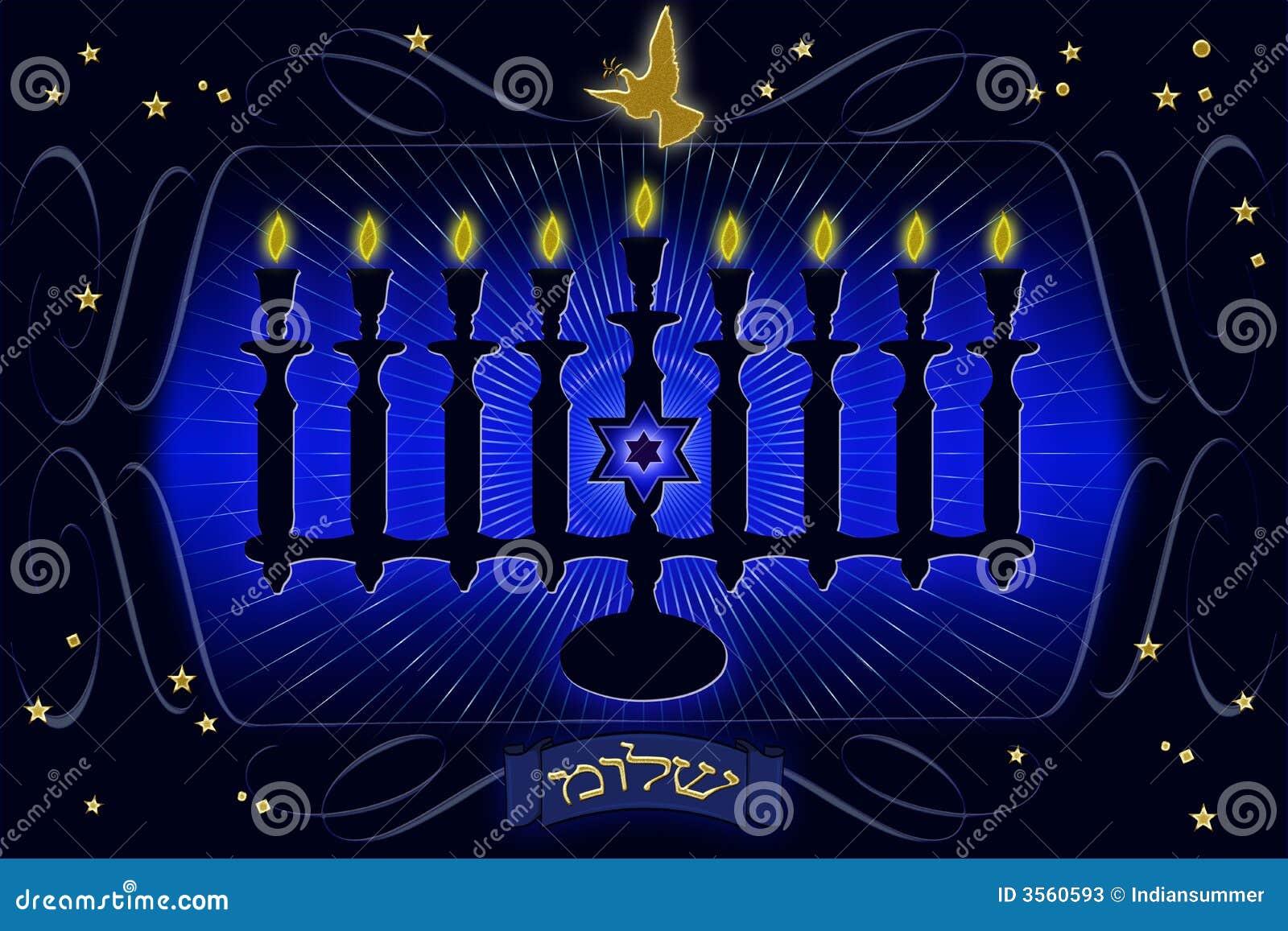 Illustratio decorativo di Menorah