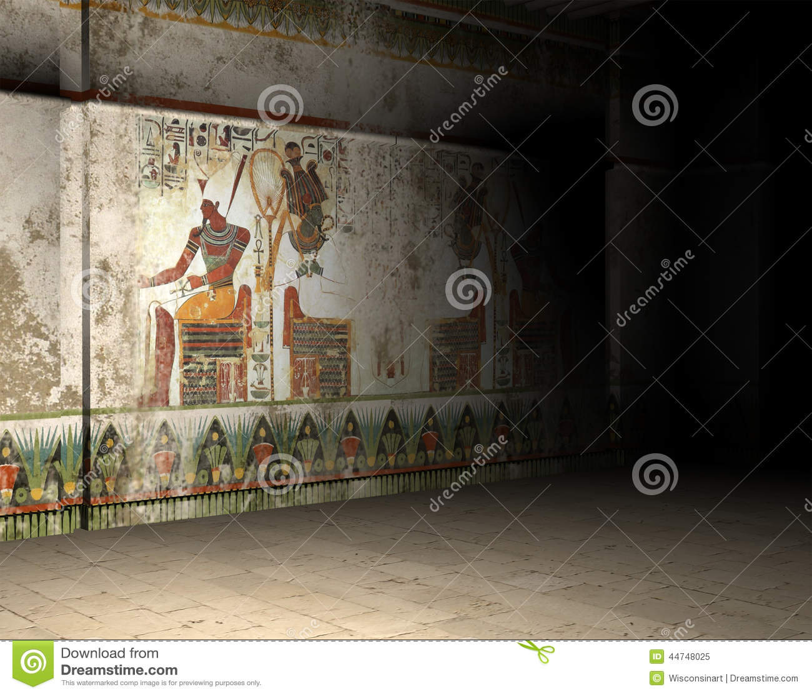 illustration l intrieur de tombe ou de pyramide d egypte antique