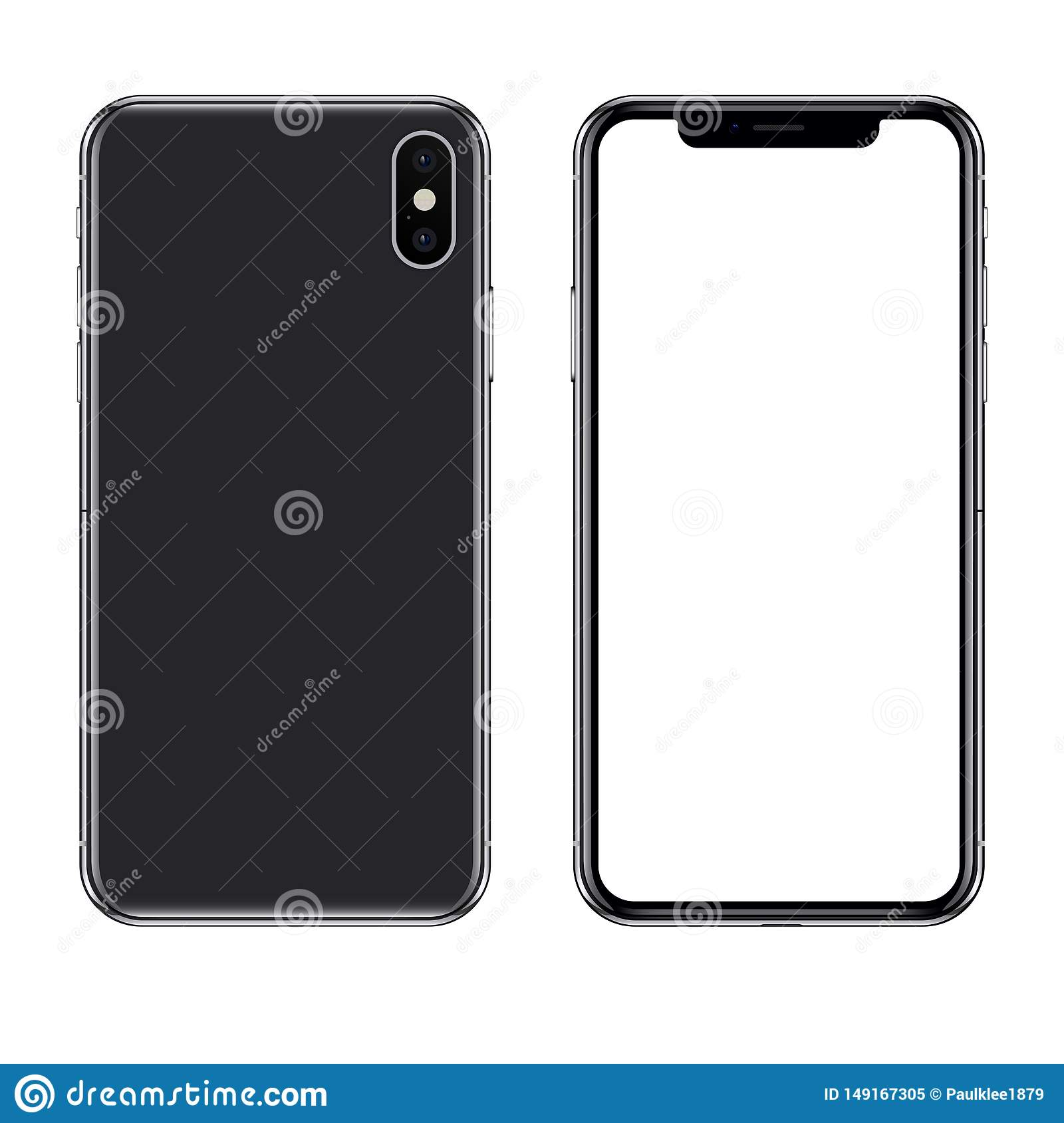 Illustration ?ditoriale de vecteur d Iphone X