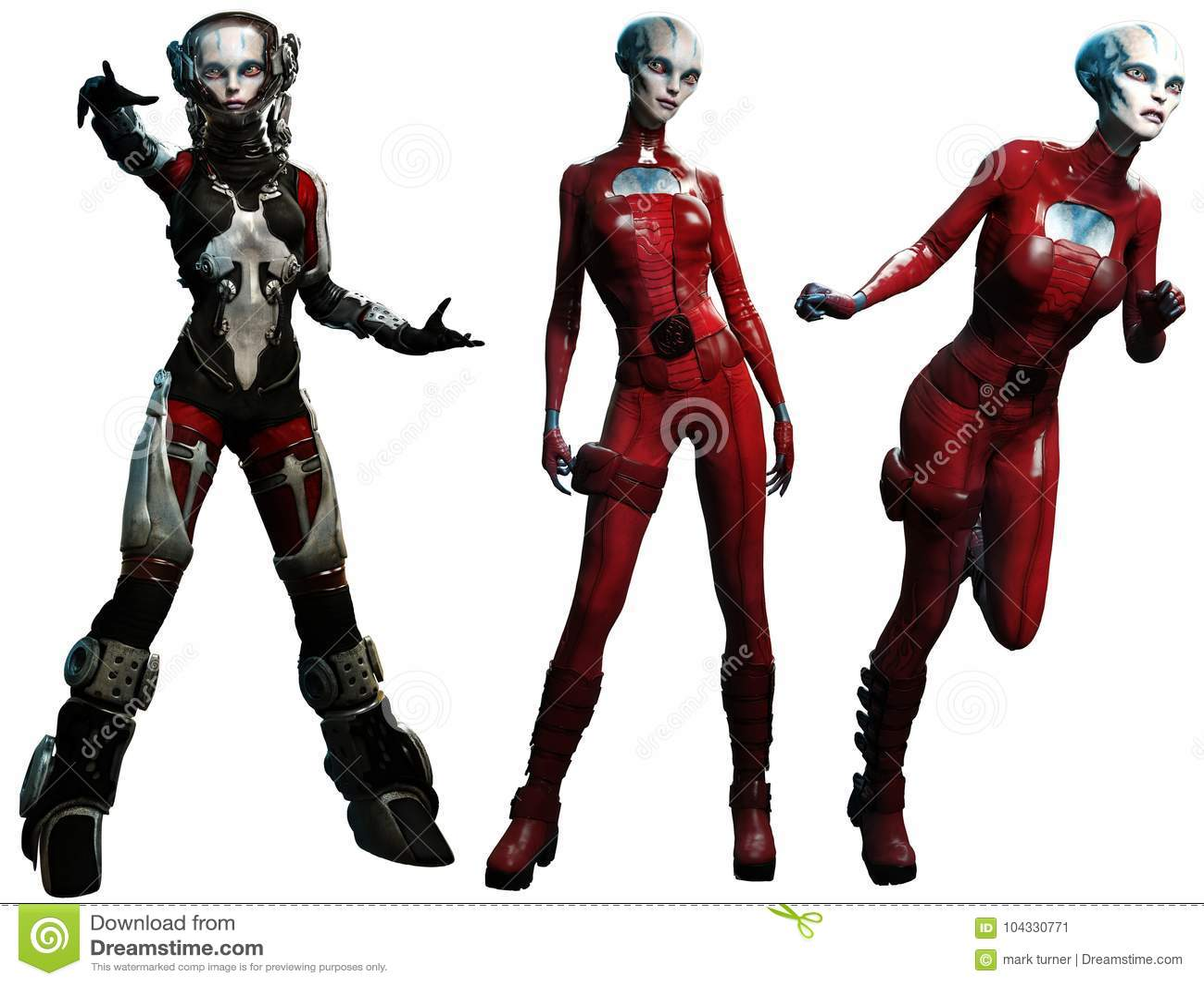 Illustration étrangère des femmes 3D