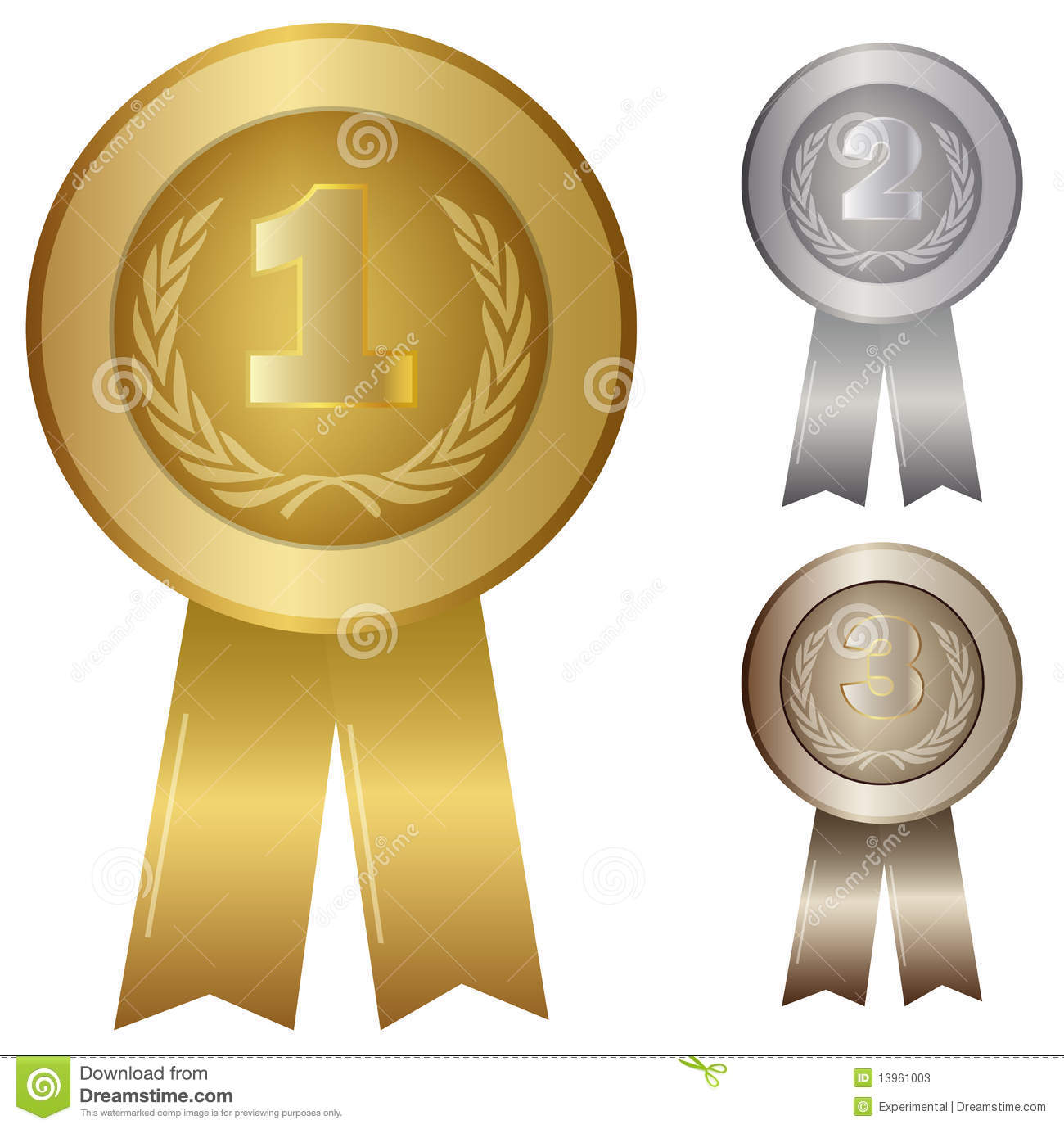Illustration Of 1st 2nd 3rd Award Stock Vector Image