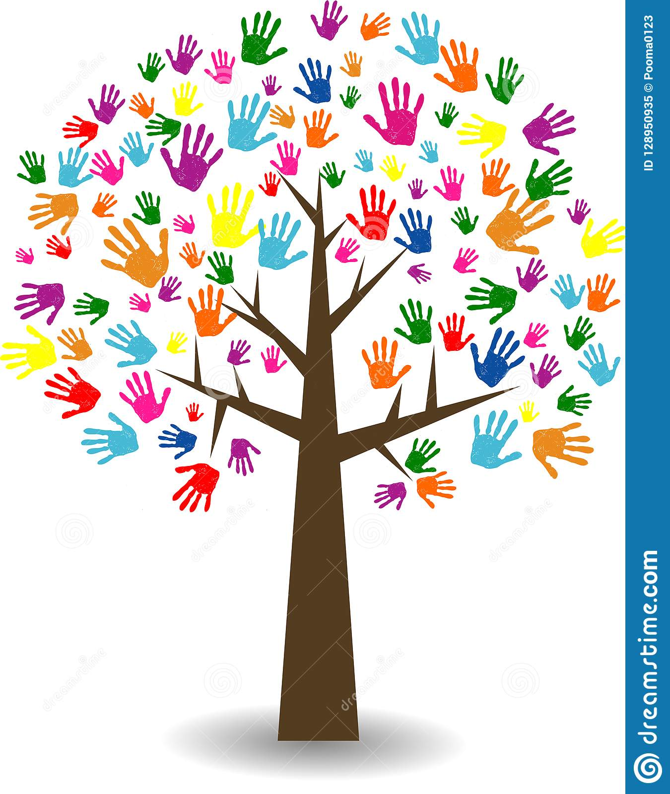 Abstract colorful family tree stock vector illustration - Family tree desktop wallpaper ...
