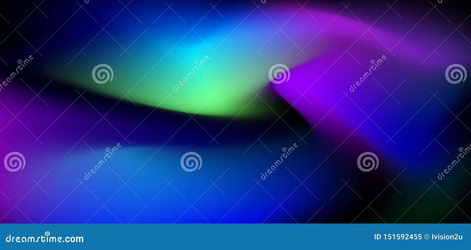 Illustration abstract glowing, neon light, minimal bright fluid, liquid gradient background. Vector modern trendy, graphic design