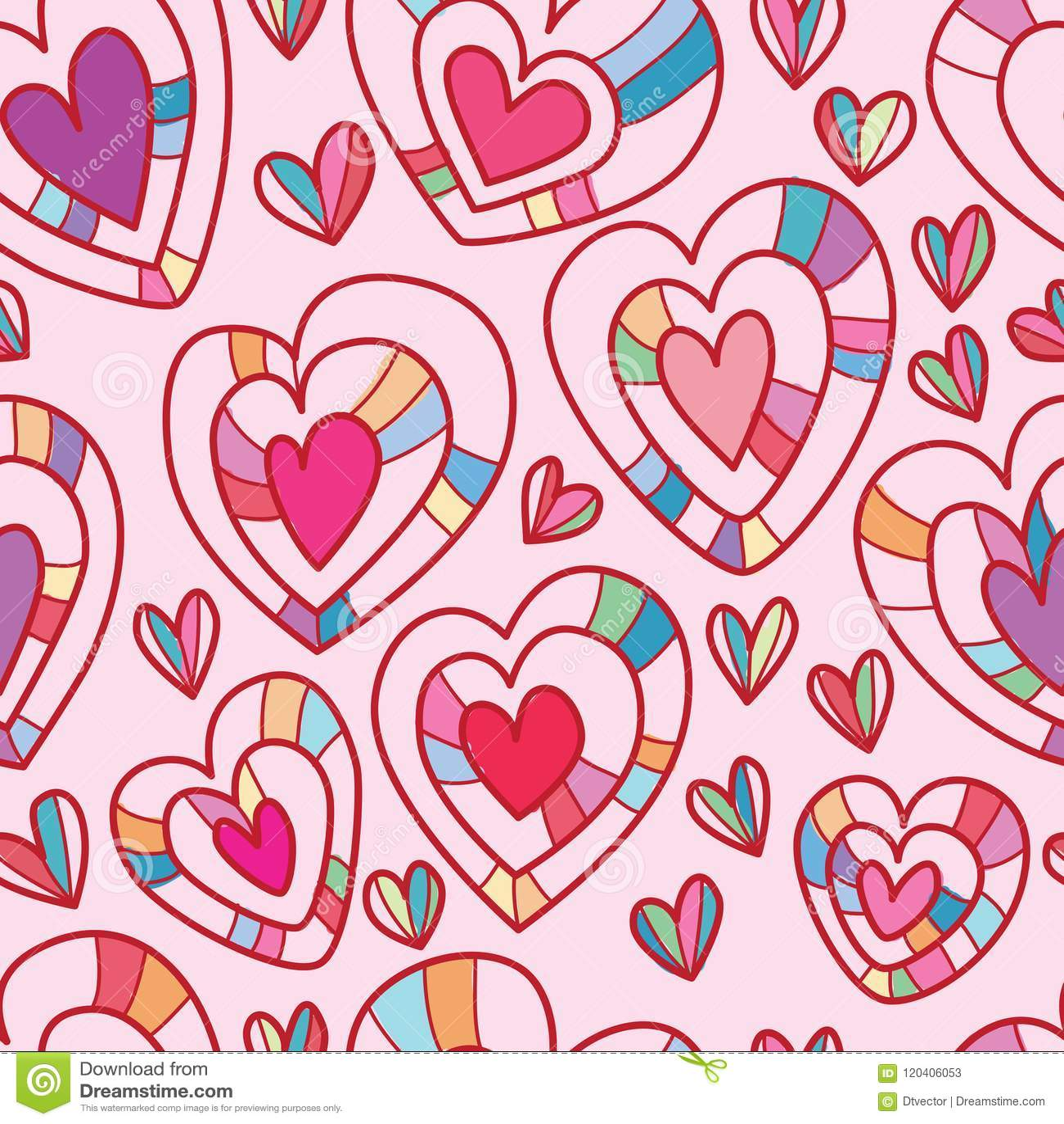 Love Layer Seamless Pattern Stock Vector Illustration Of Print