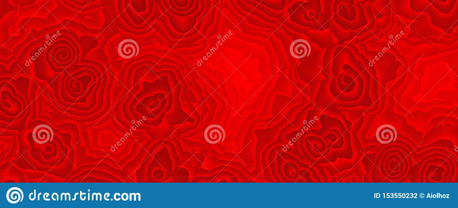 Painting abstract red rose pattern