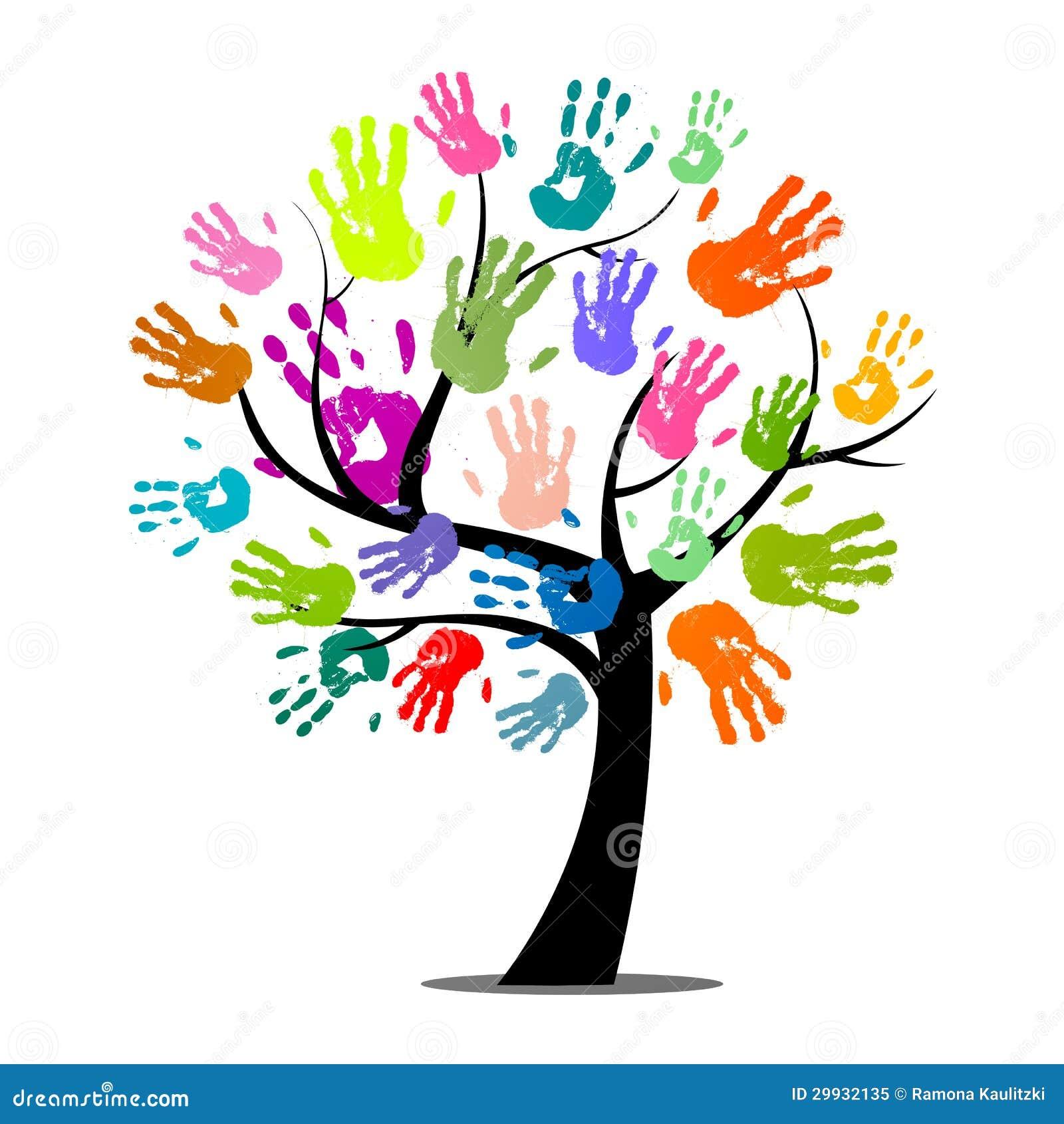 Colorful Hand Prints stock illustration. Illustration of ...