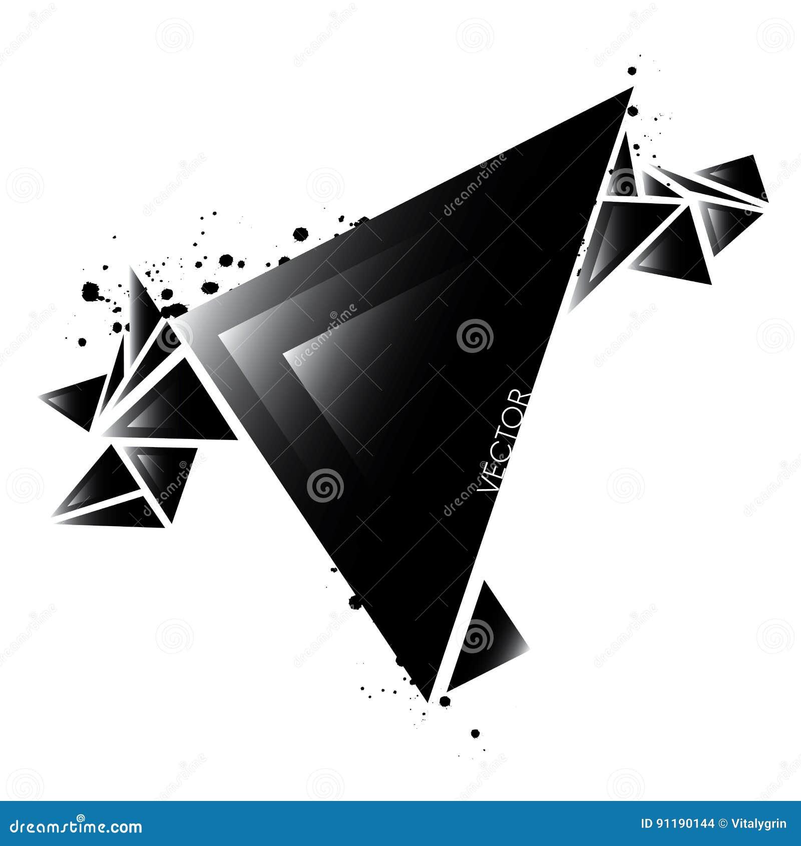 Illustration Abstraite Lgante Des Triangles Vecteur Carte De Visite Professionnelle Ou Bannire Conception