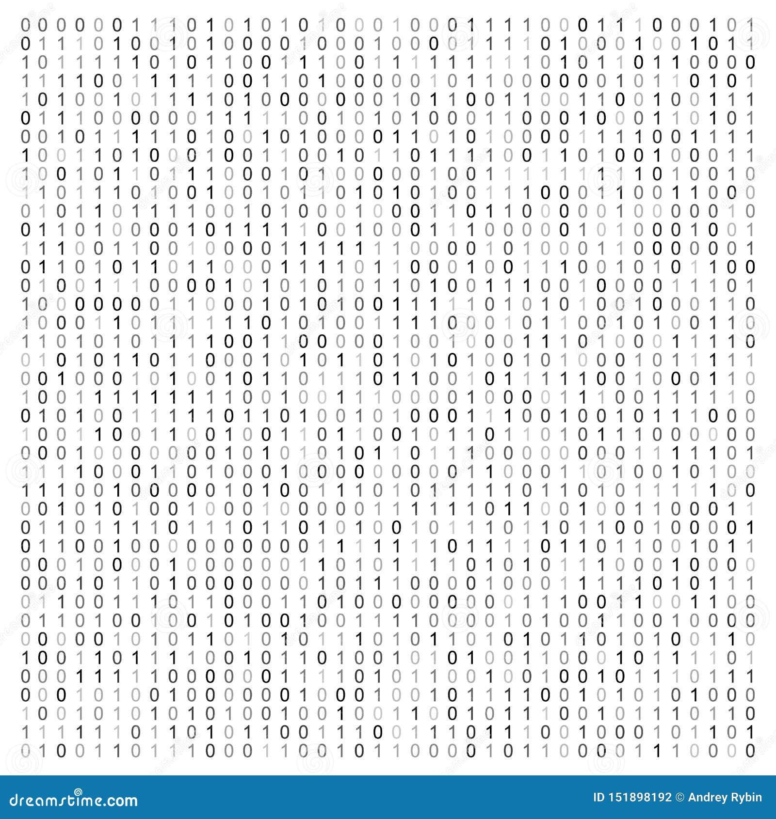 Illustration abstraite de vecteur avec le code binaire Texture technologique de Digital