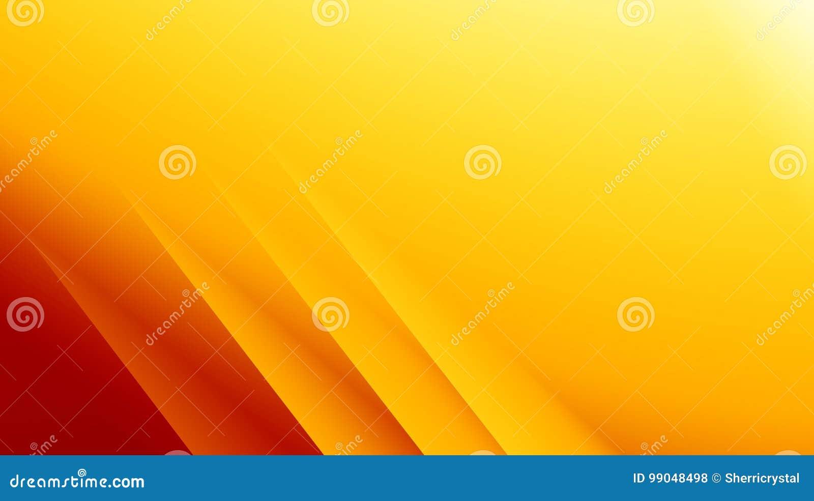 Illustration abstraite moderne rouge jaune-orange de fond de fractale avec les lignes diagonales parallèles L espace des textes A